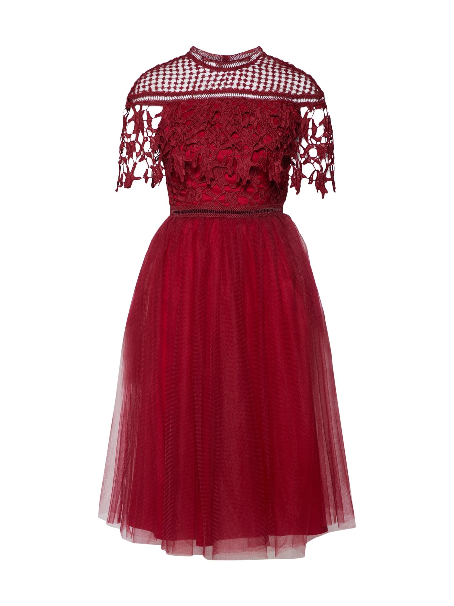 Koktejlové šaty Yeliz krvavě červená Chi Chi London