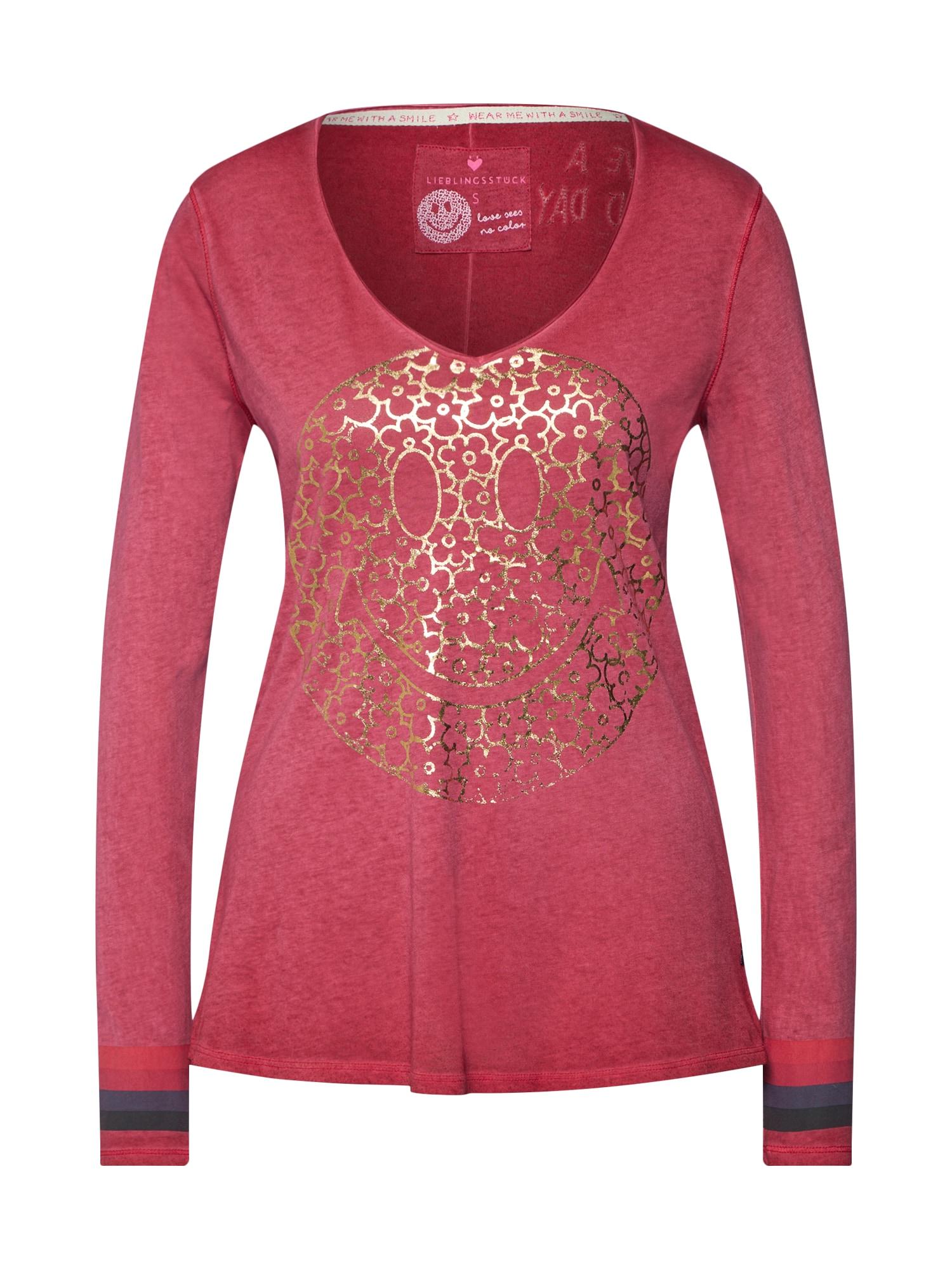 Tričko zlatá pink LIEBLINGSSTÜCK
