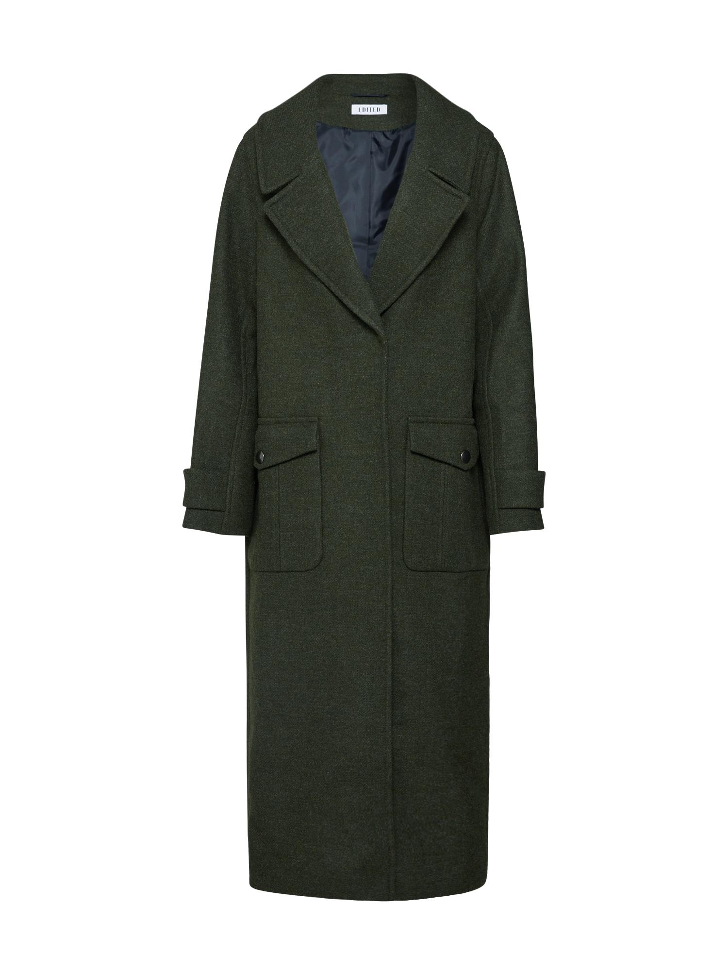 EDITED Žieminis paltas 'Clio' žalia