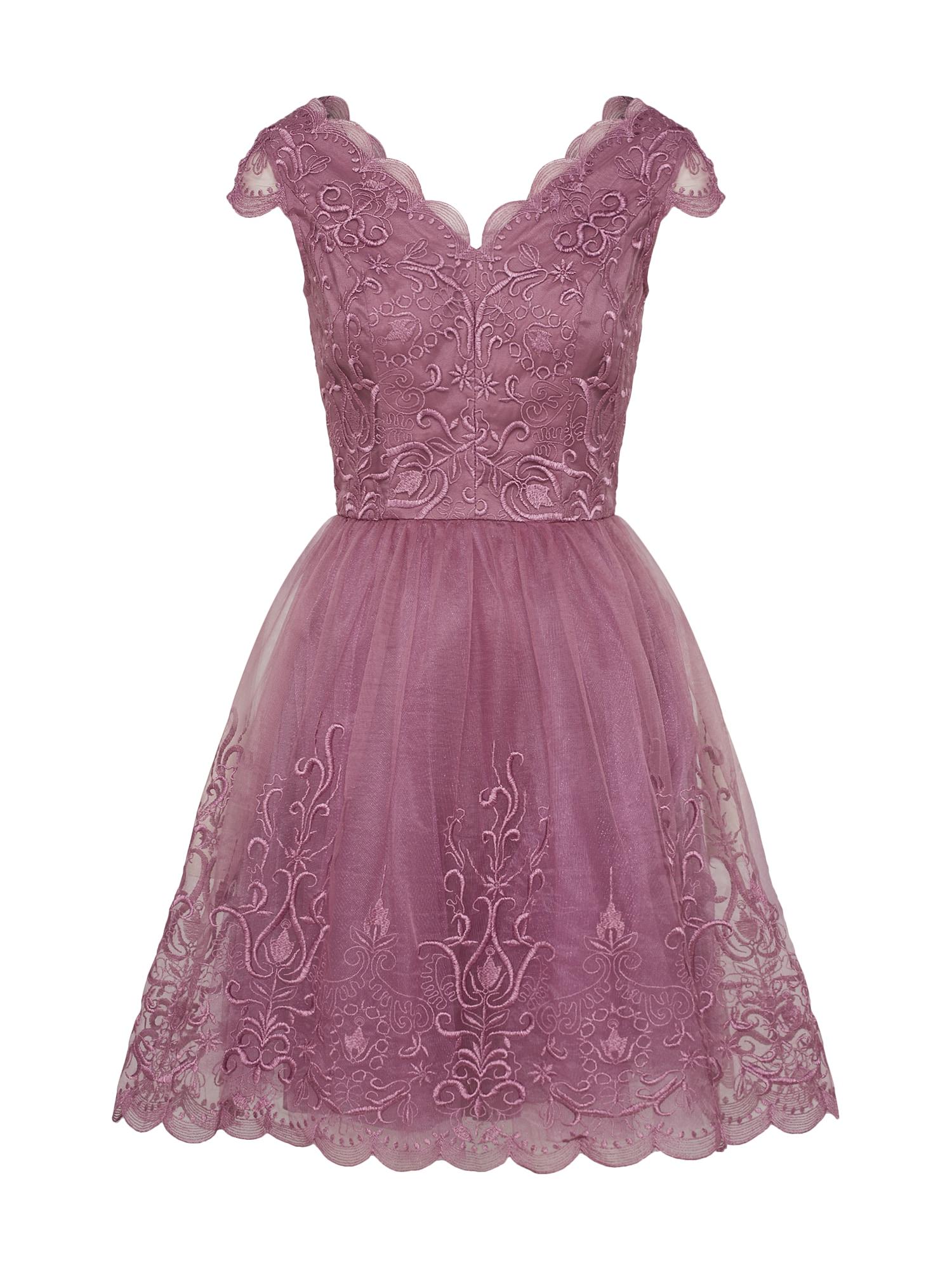 Koktejlové šaty fialová Chi Chi London