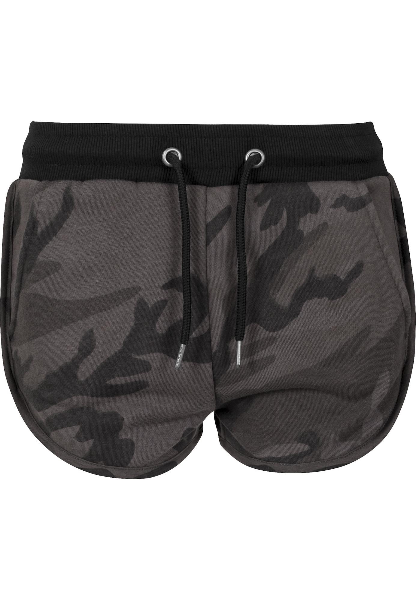Urban Classics Kalhoty 'Camo'  tmavě šedá / černá