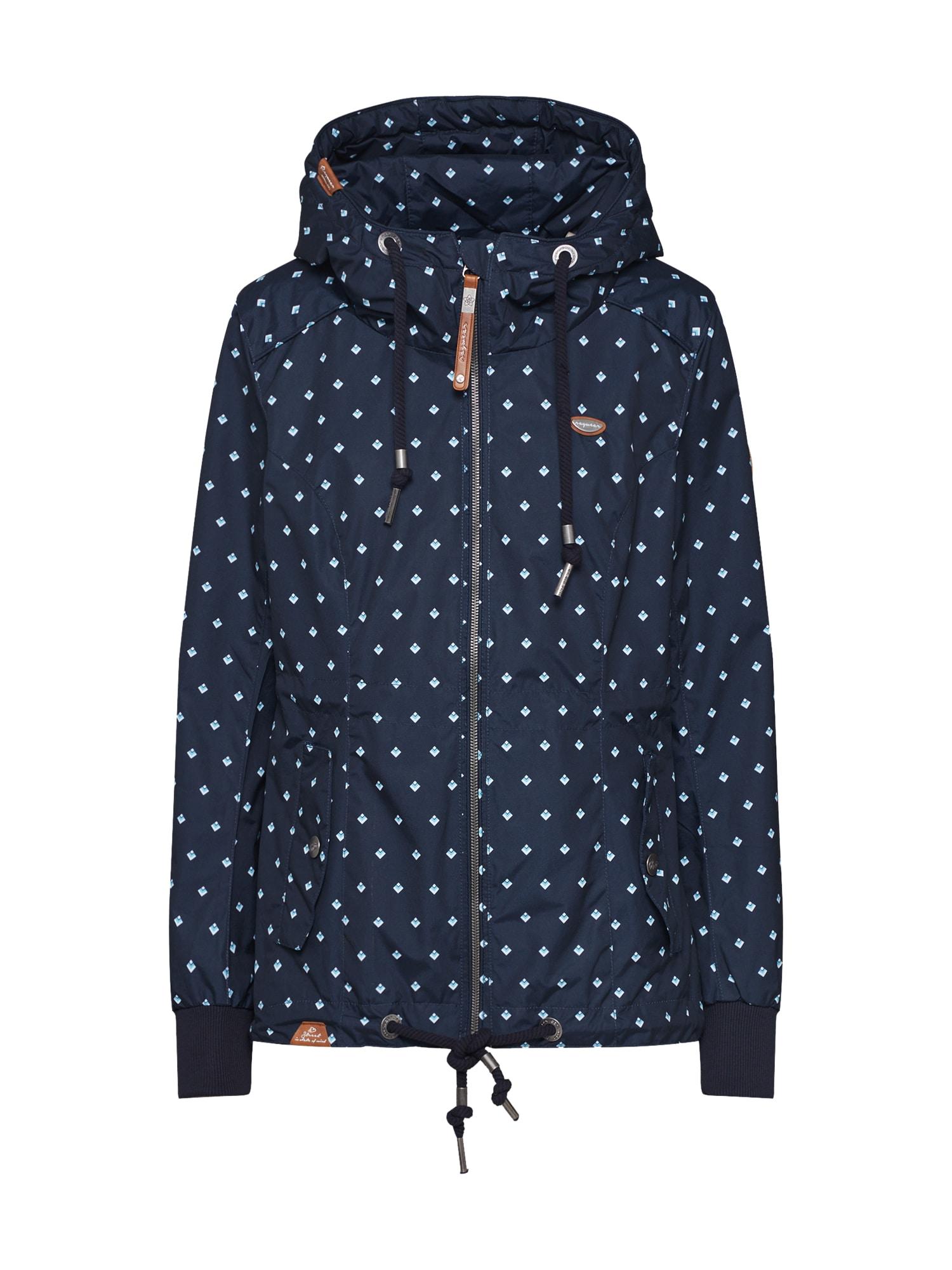 Ragwear Prechodná bunda 'DANKA BLUEBELL'  námornícka modrá / svetlomodrá
