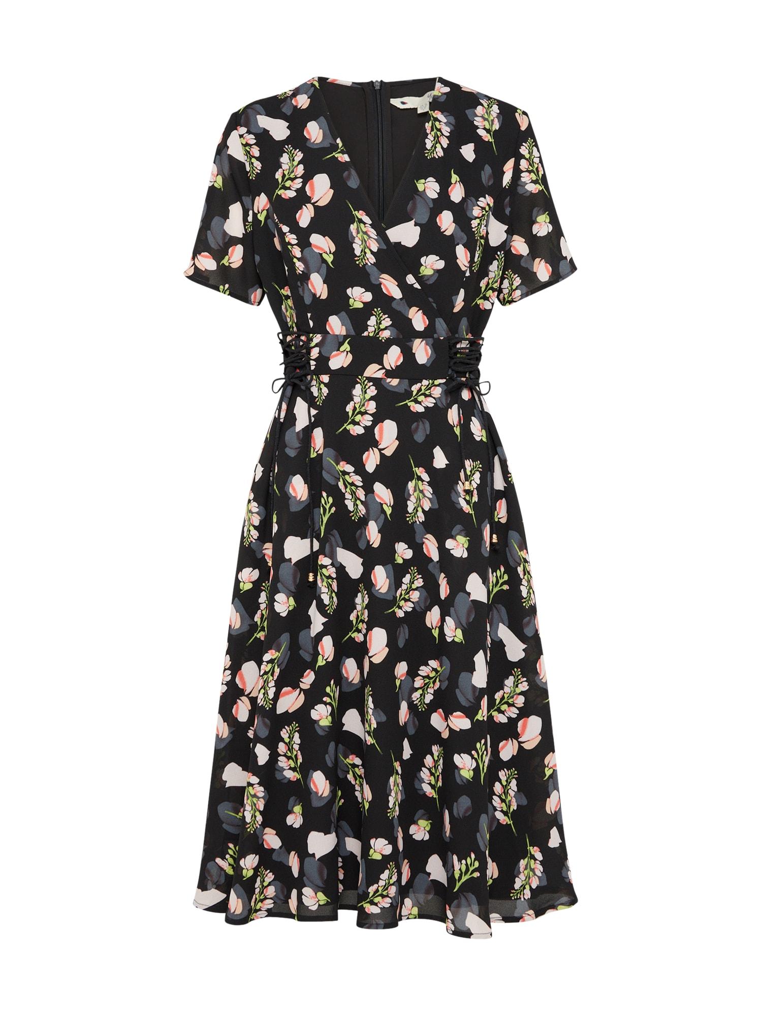 Šaty LACE TIE mix barev černá Yumi