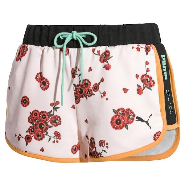 Hosen für Frauen - PUMA Shorts pastellgrün orange pastellpink rot schwarz  - Onlineshop ABOUT YOU