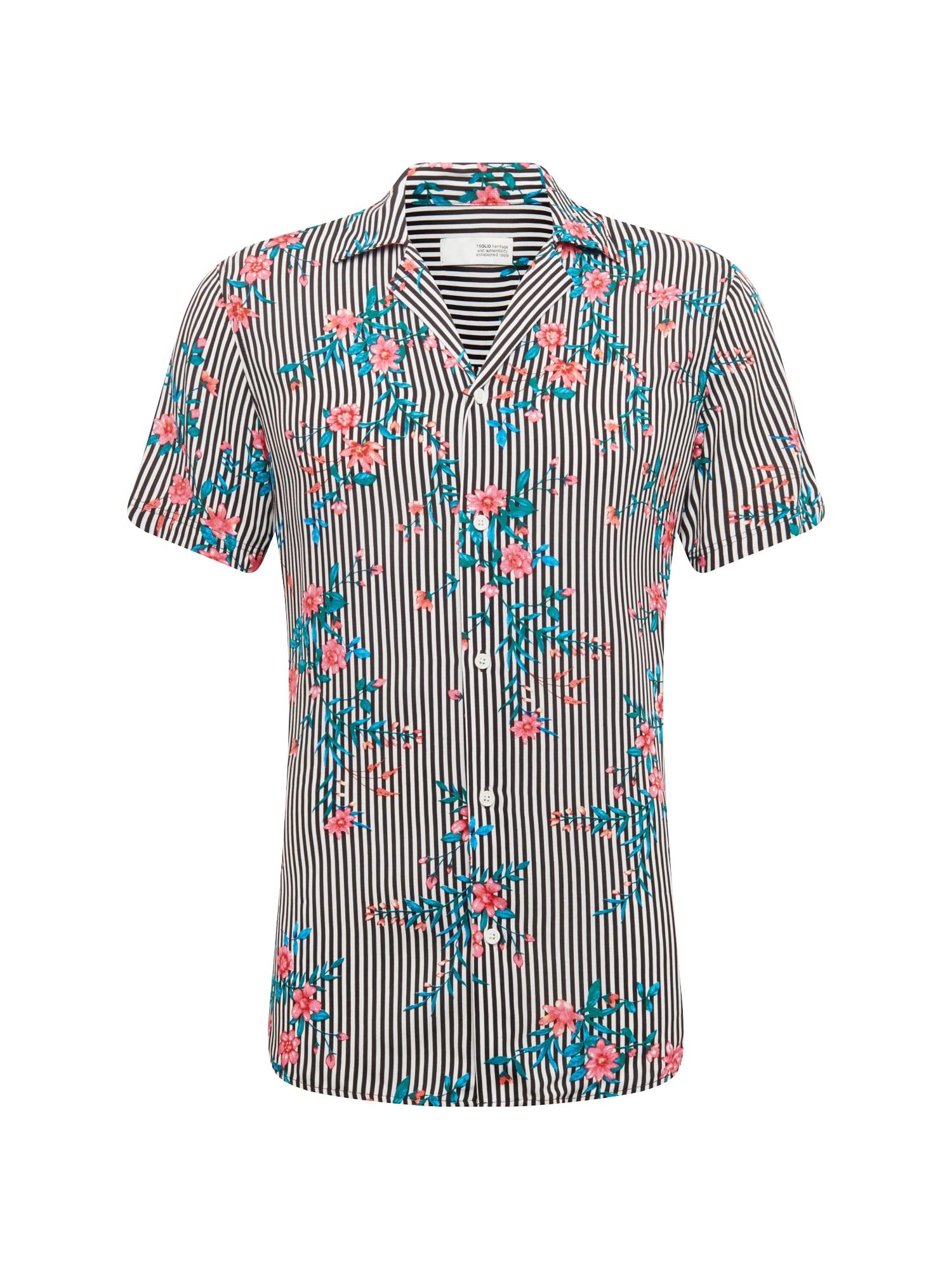 Košile Shirt - Brando Tropic SS červená černá !Solid