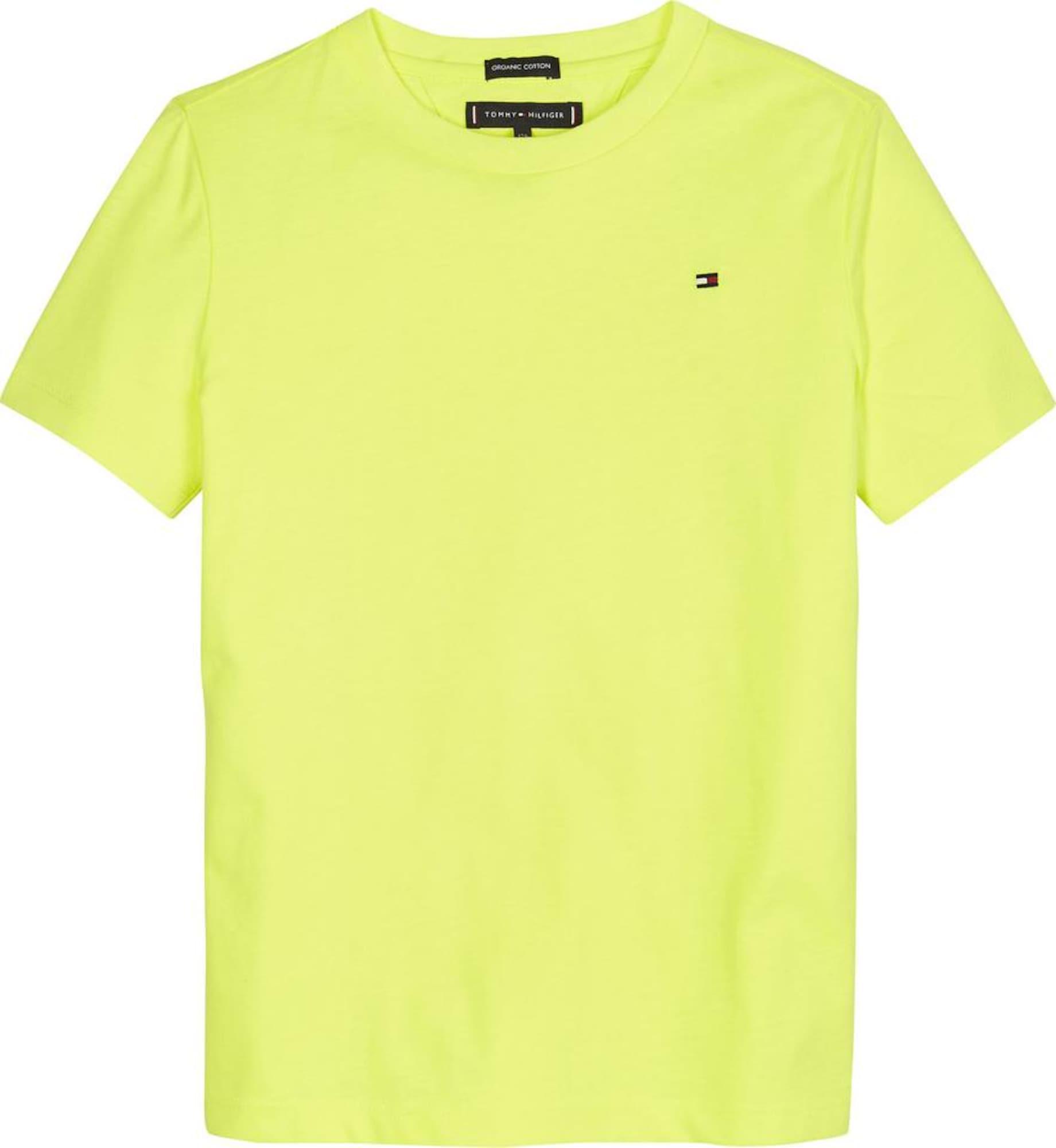 TOMMY HILFIGER Marškinėliai geltonosios citrinos spalva