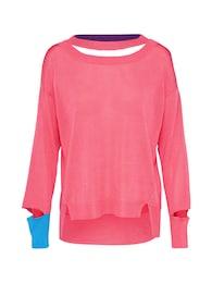 DIESEL Damen sportlicher Sweater blau,pink | 08055192520883