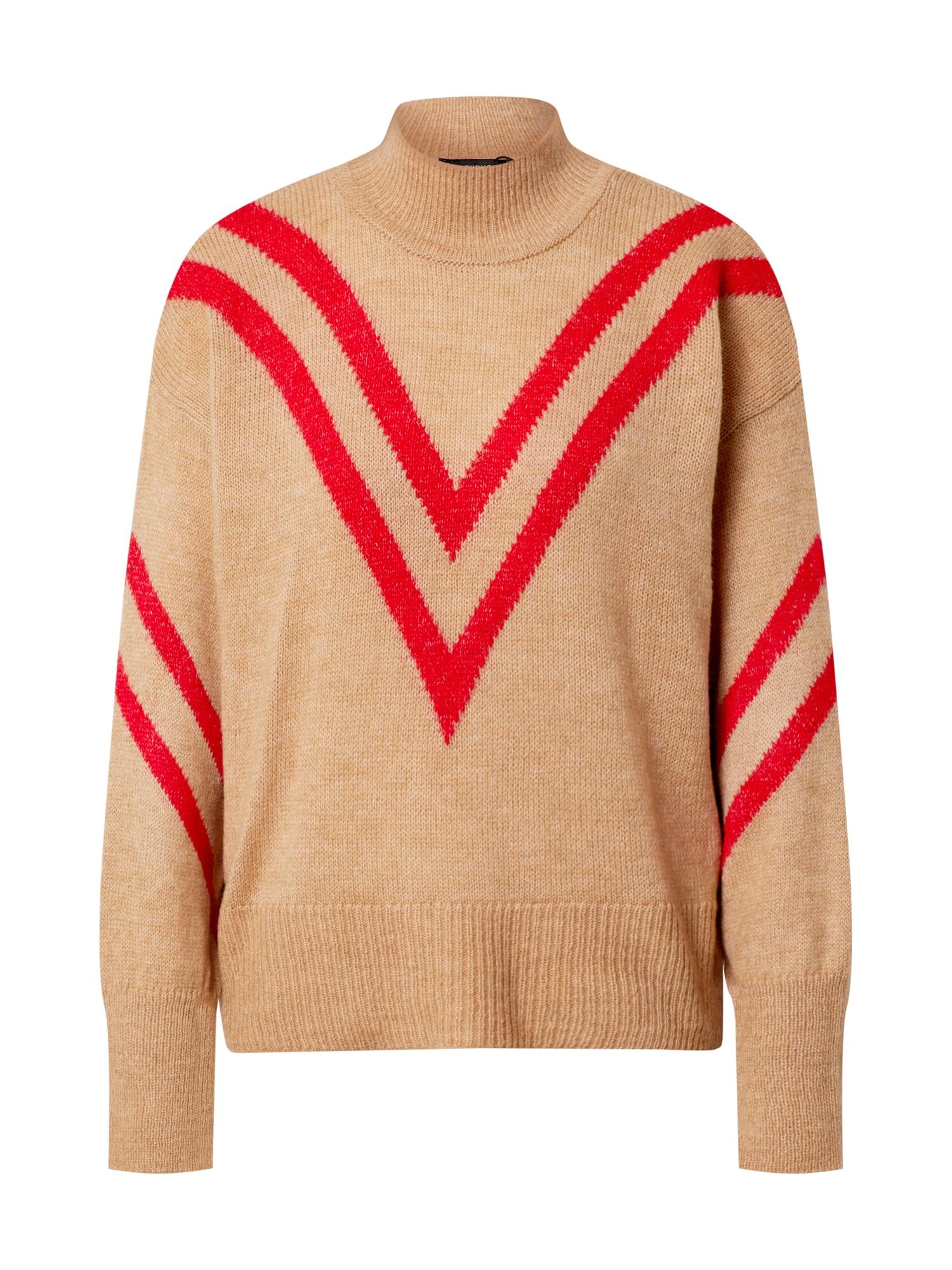 Trendyol Megztinis smėlio / šviesiai raudona