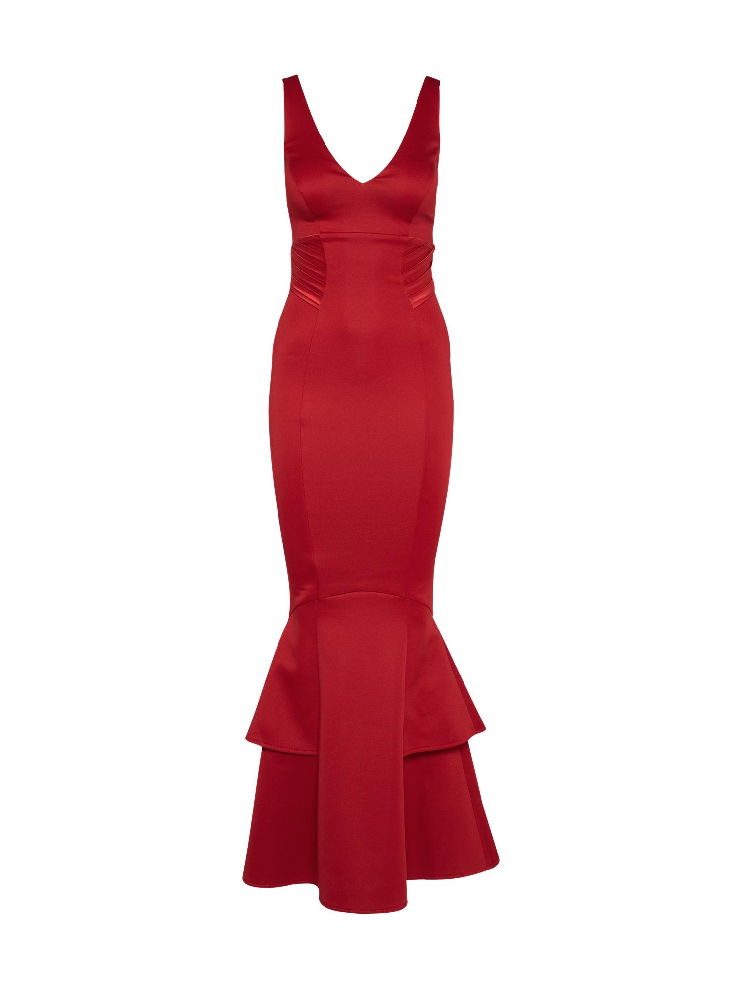 Společenské šaty Winter Red Satin vínově červená Lipsy