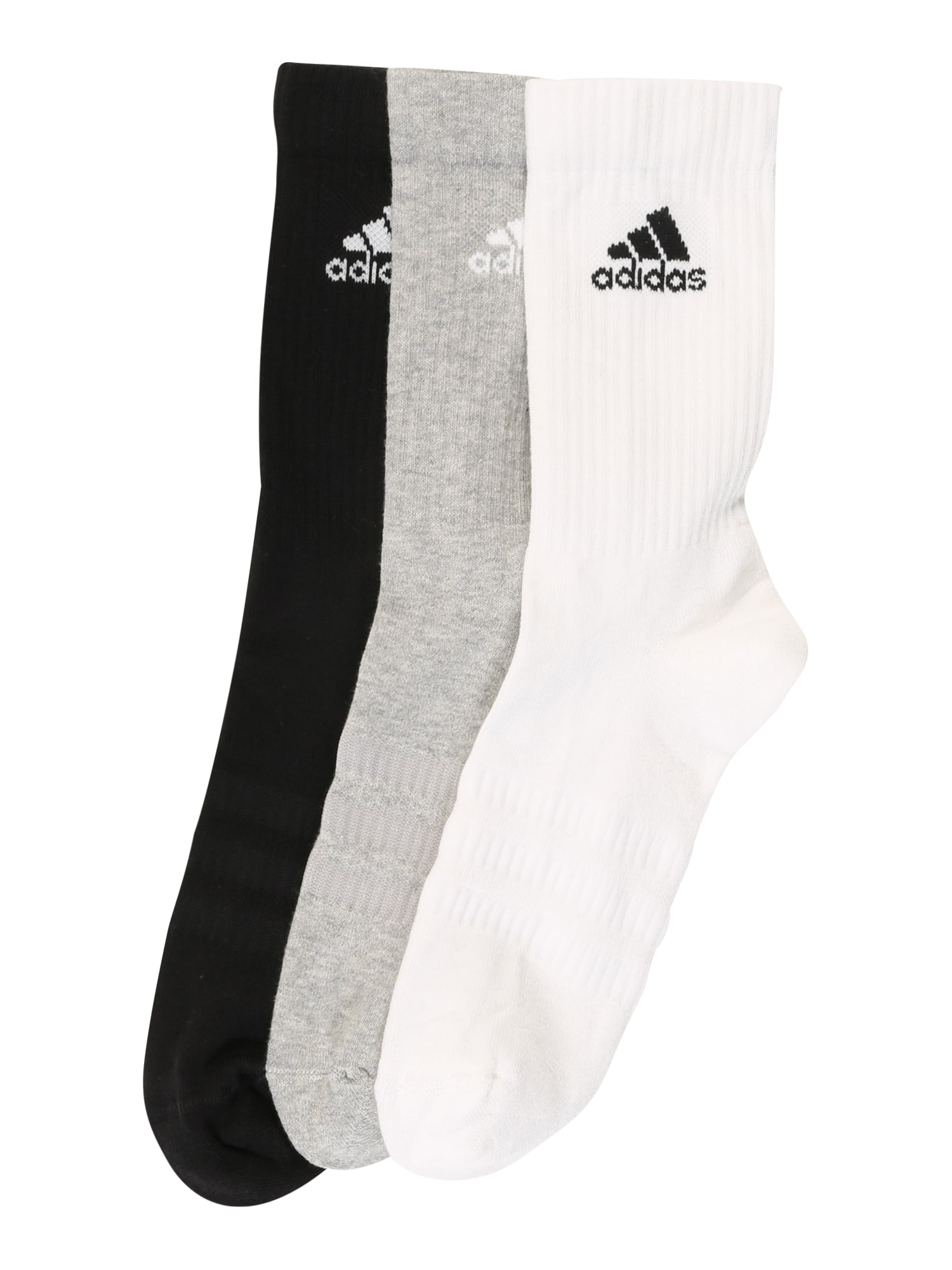 ADIDAS PERFORMANCE Sportinės kojinės 'CUSH CRW 3PP' pilka / juoda