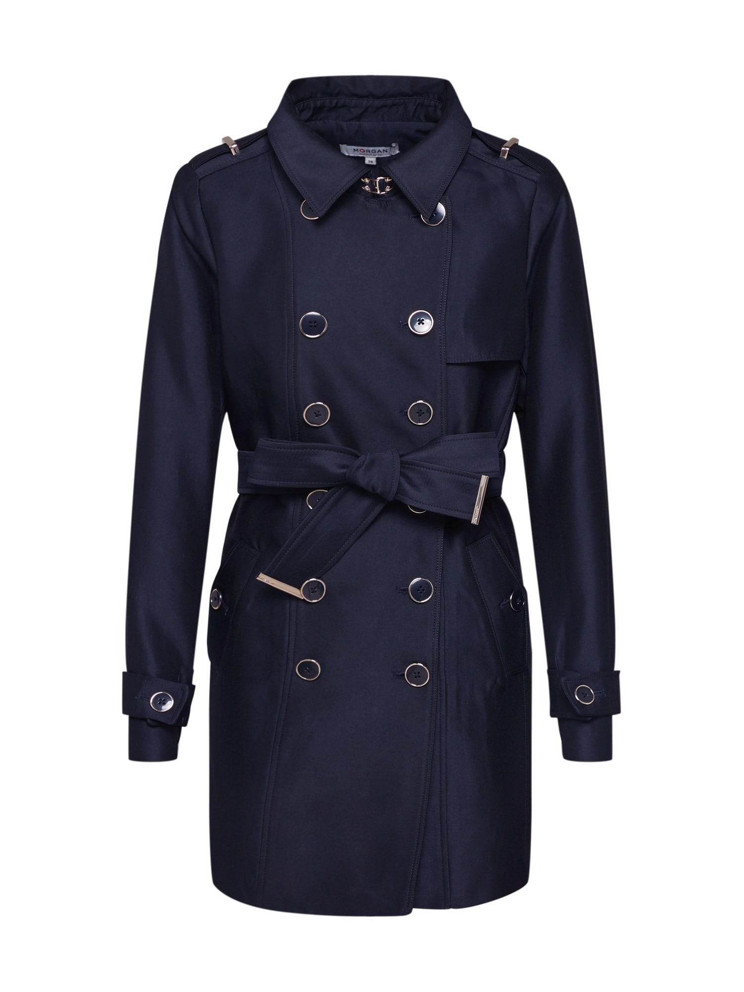 Morgan Rudeninis-žieminis paltas 'GROSSE PIÈCE' tamsiai mėlyna jūros spalva
