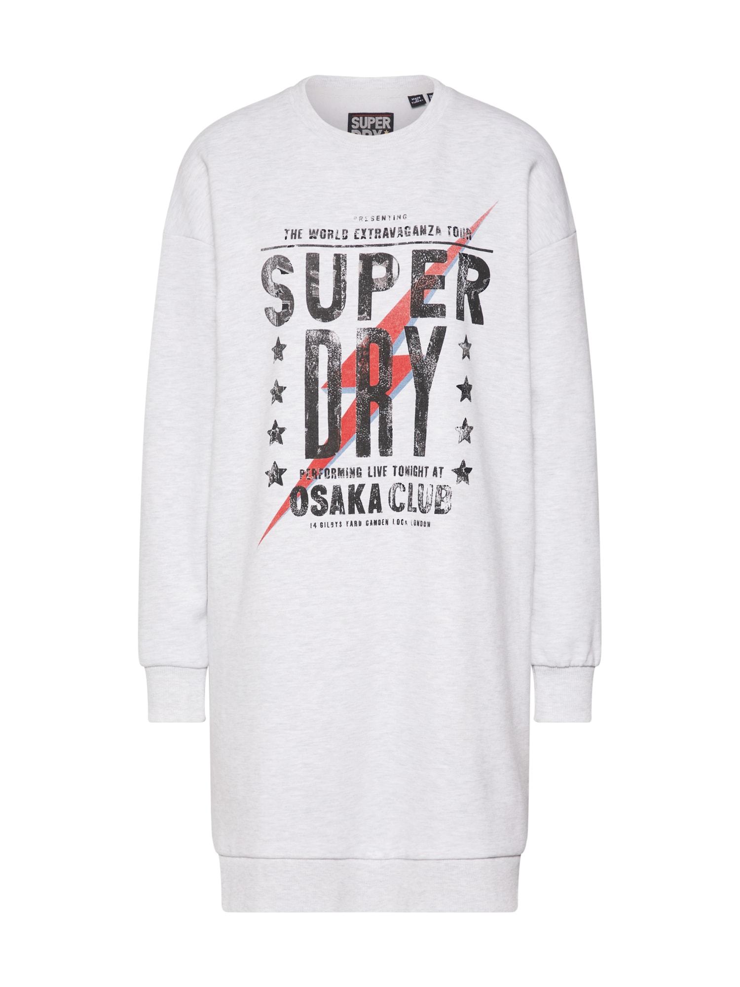 Superdry Suknelė 'OSAKA CLUB SWEAT DRESS' pilka