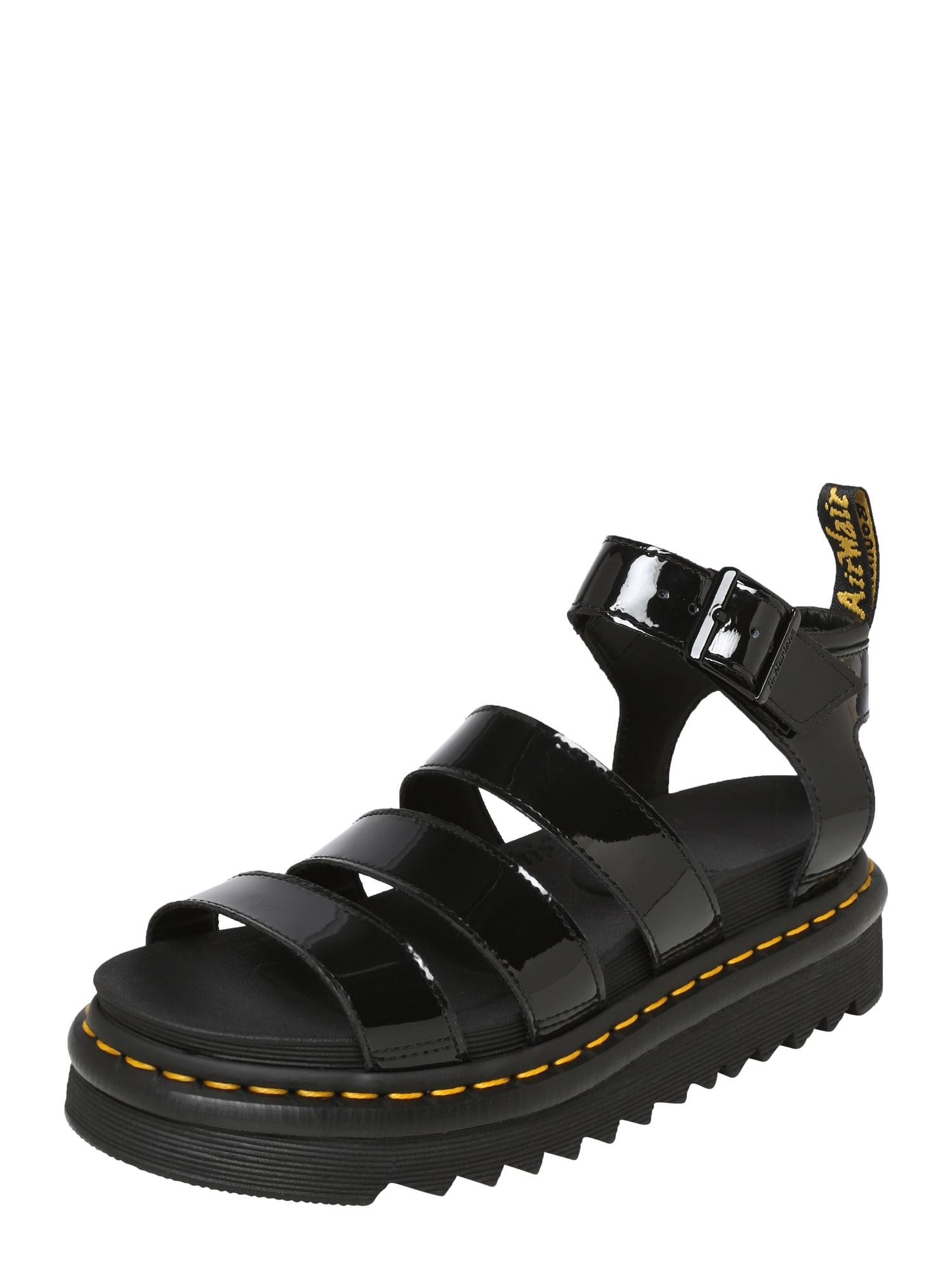 Páskové sandály Chunky Blaire černá Dr. Martens