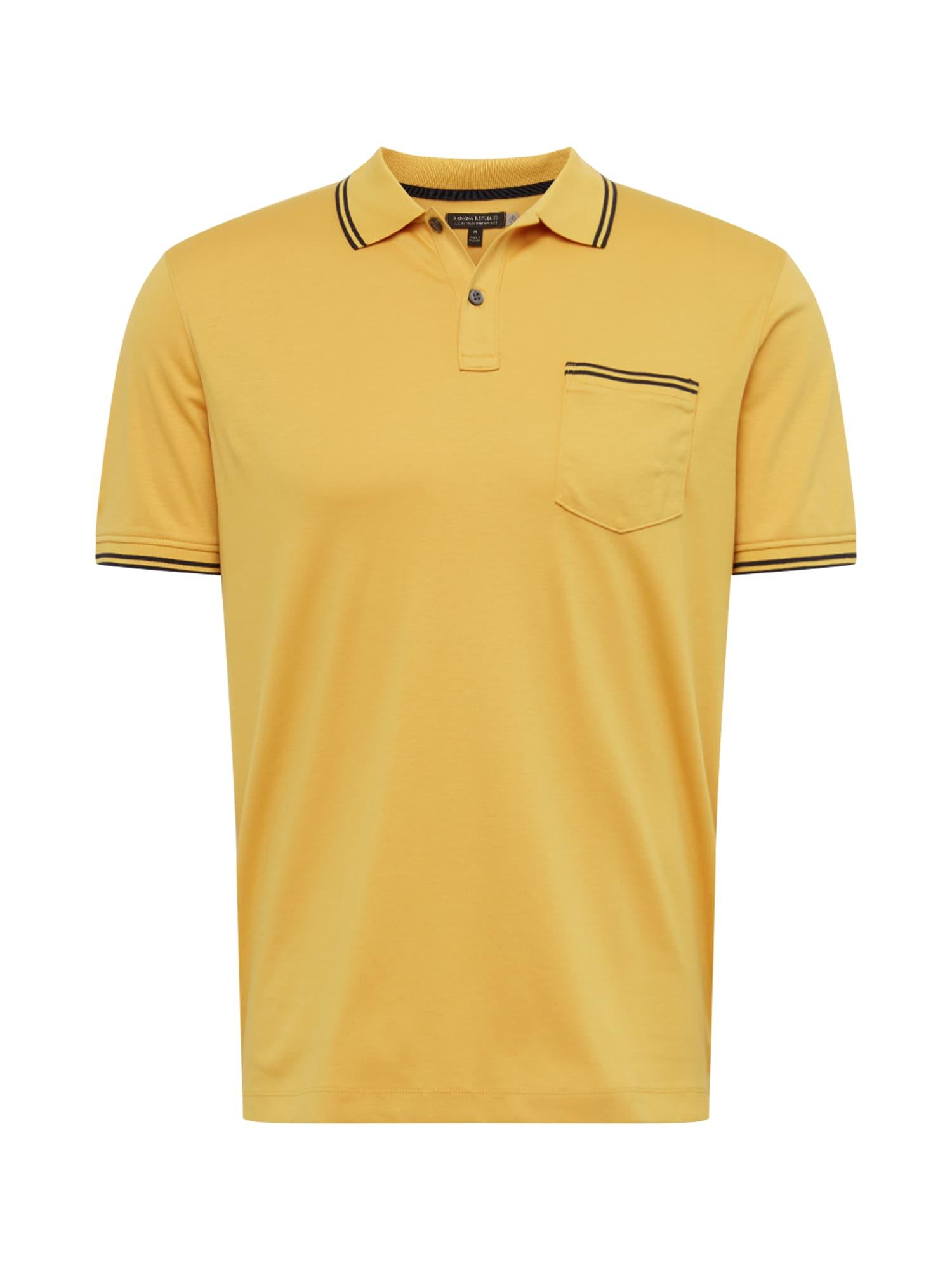 Banana Republic Marškinėliai 'PERF LUX RETRO TIPPED' garstyčių spalva