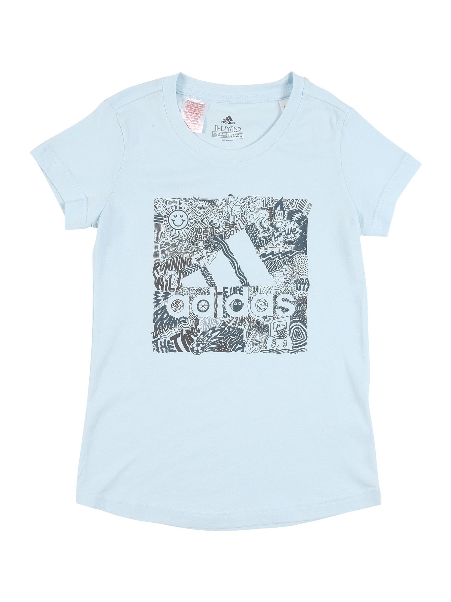 ADIDAS PERFORMANCE Funkční tričko  šedá / opálová