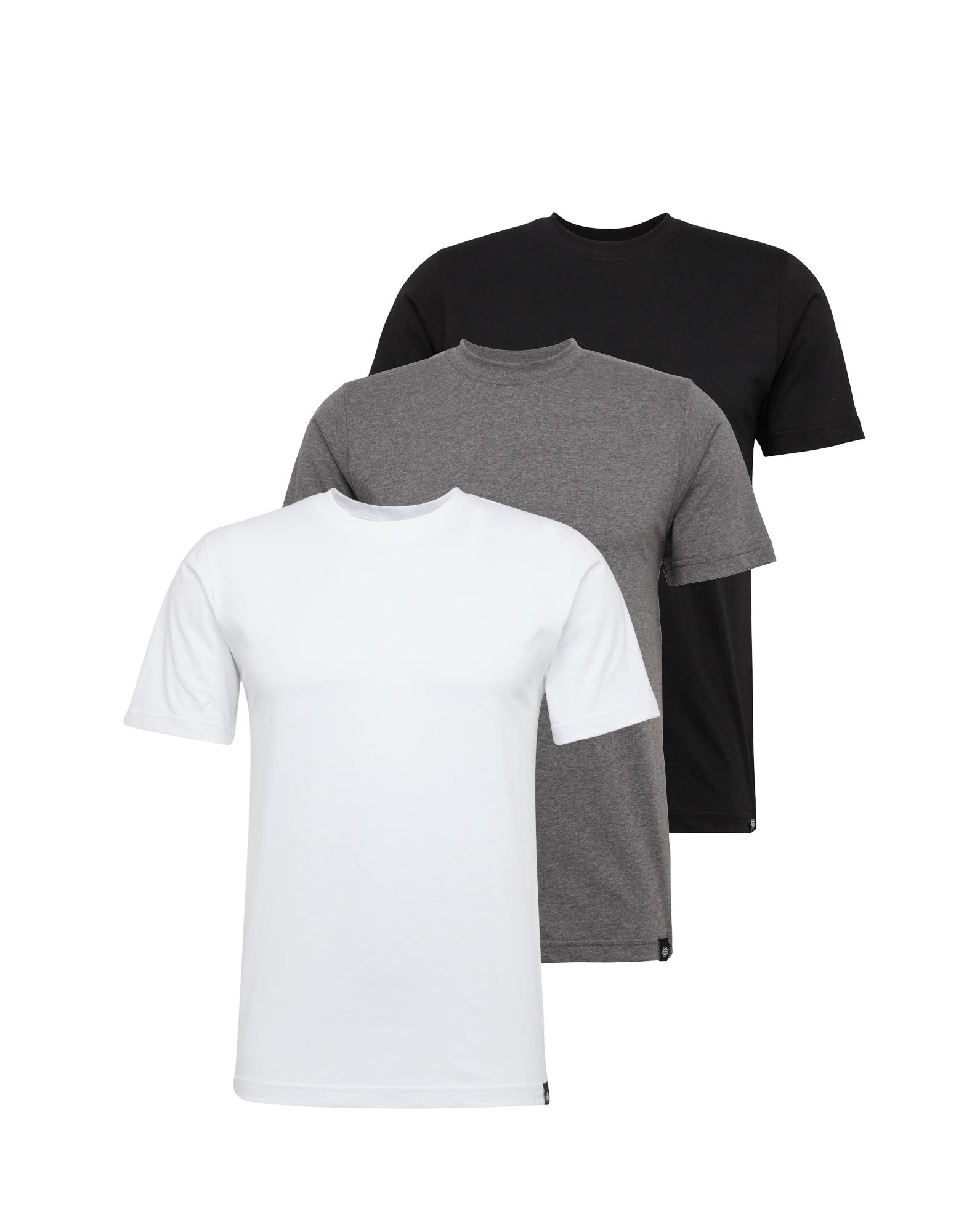 DICKIES Marškinėliai pilka / juoda / balta