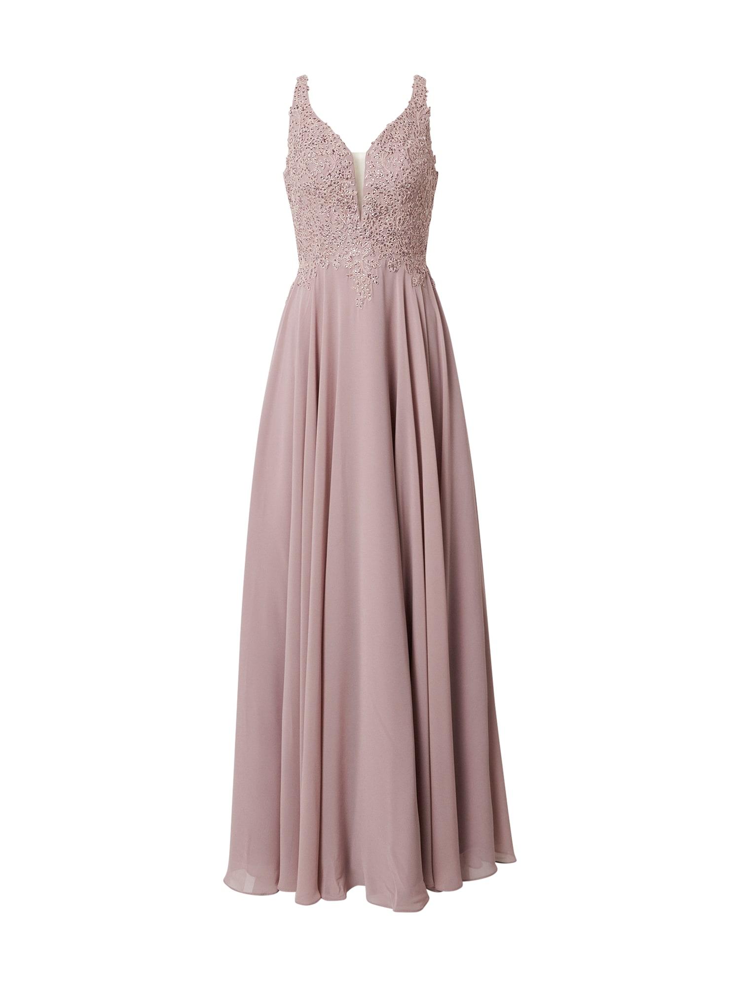 LUXUAR Vakarinė suknelė rausvai violetinė spalva