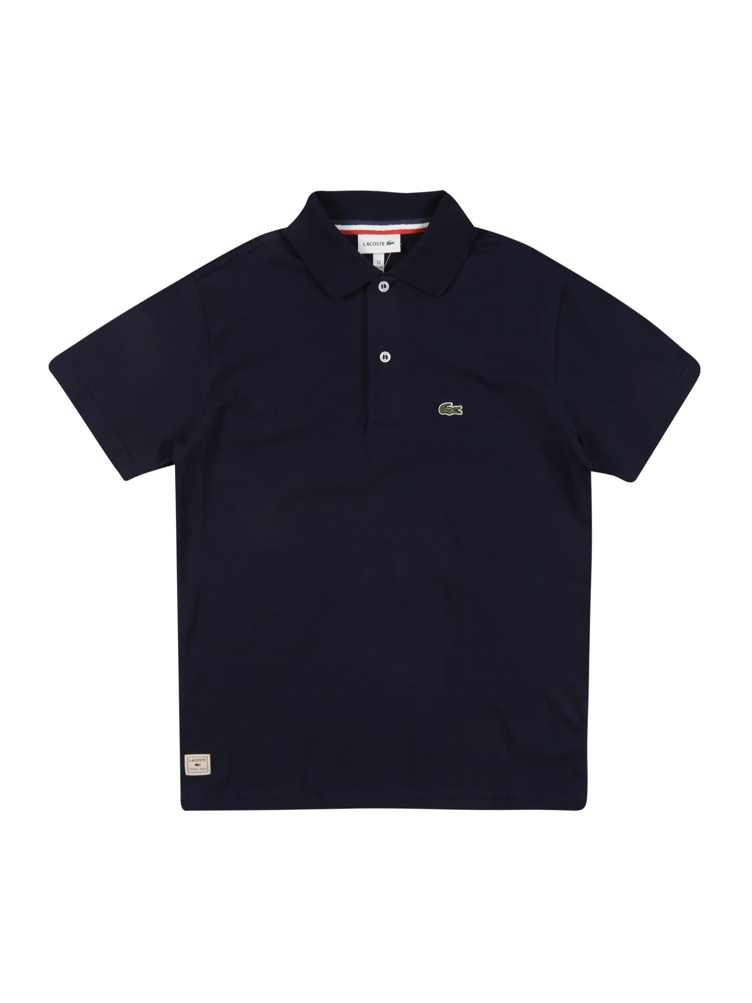 LACOSTE Marškinėliai tamsiai mėlyna / balta / žalia