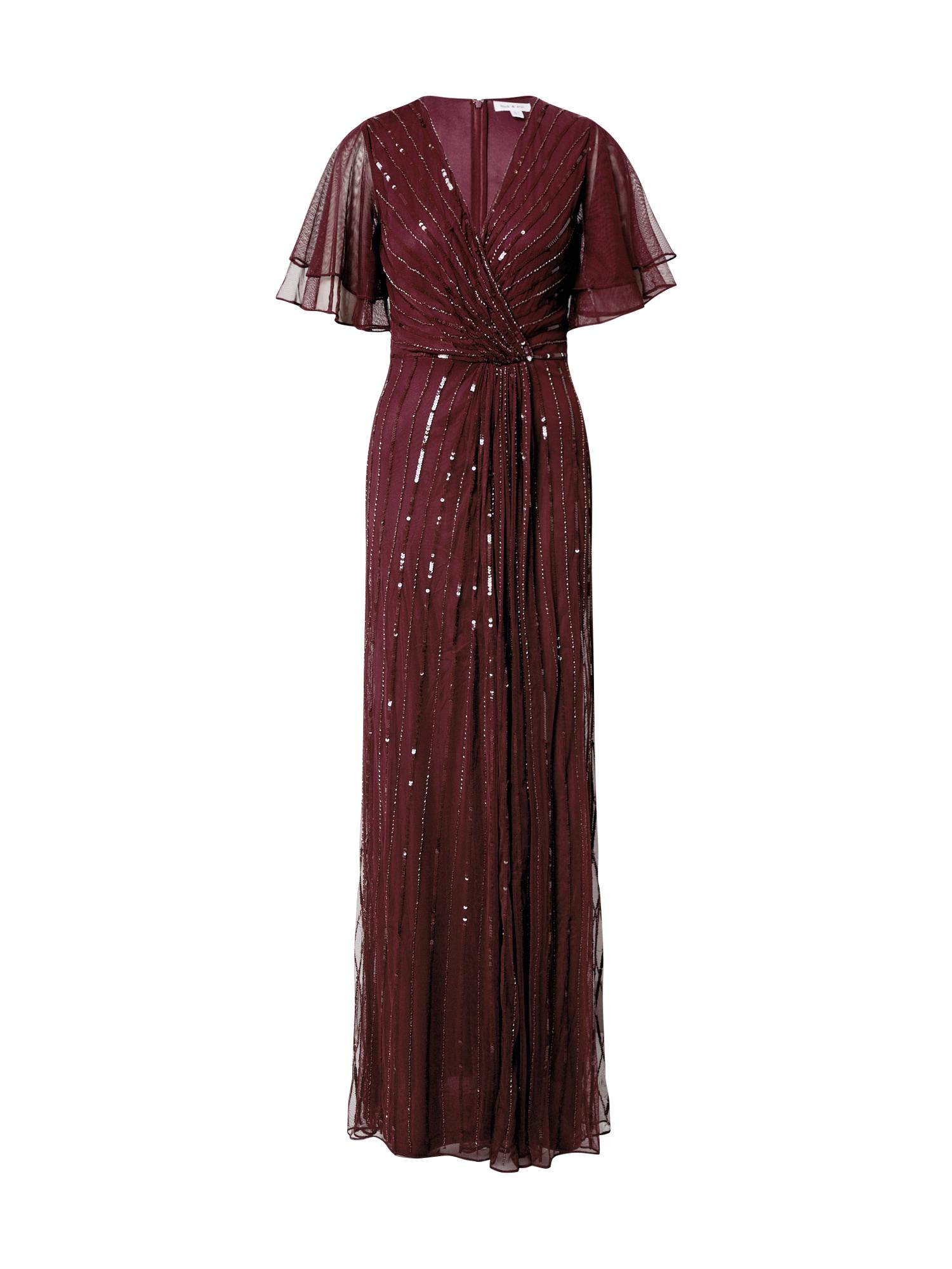 Frock and Frill Vakarinė suknelė burgundiško vyno spalva