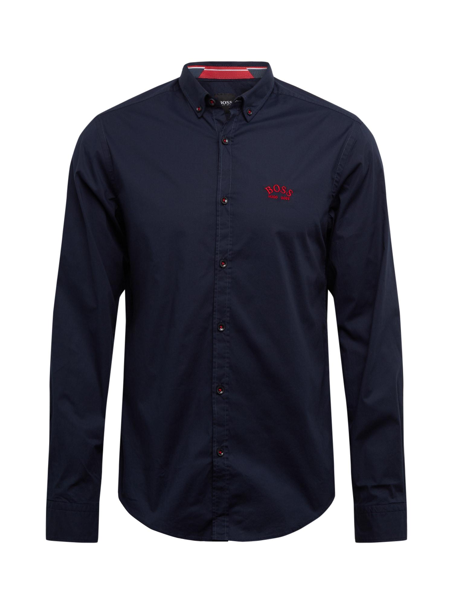 BOSS ATHLEISURE Dalykiniai marškiniai 'BIADO_R' tamsiai mėlyna
