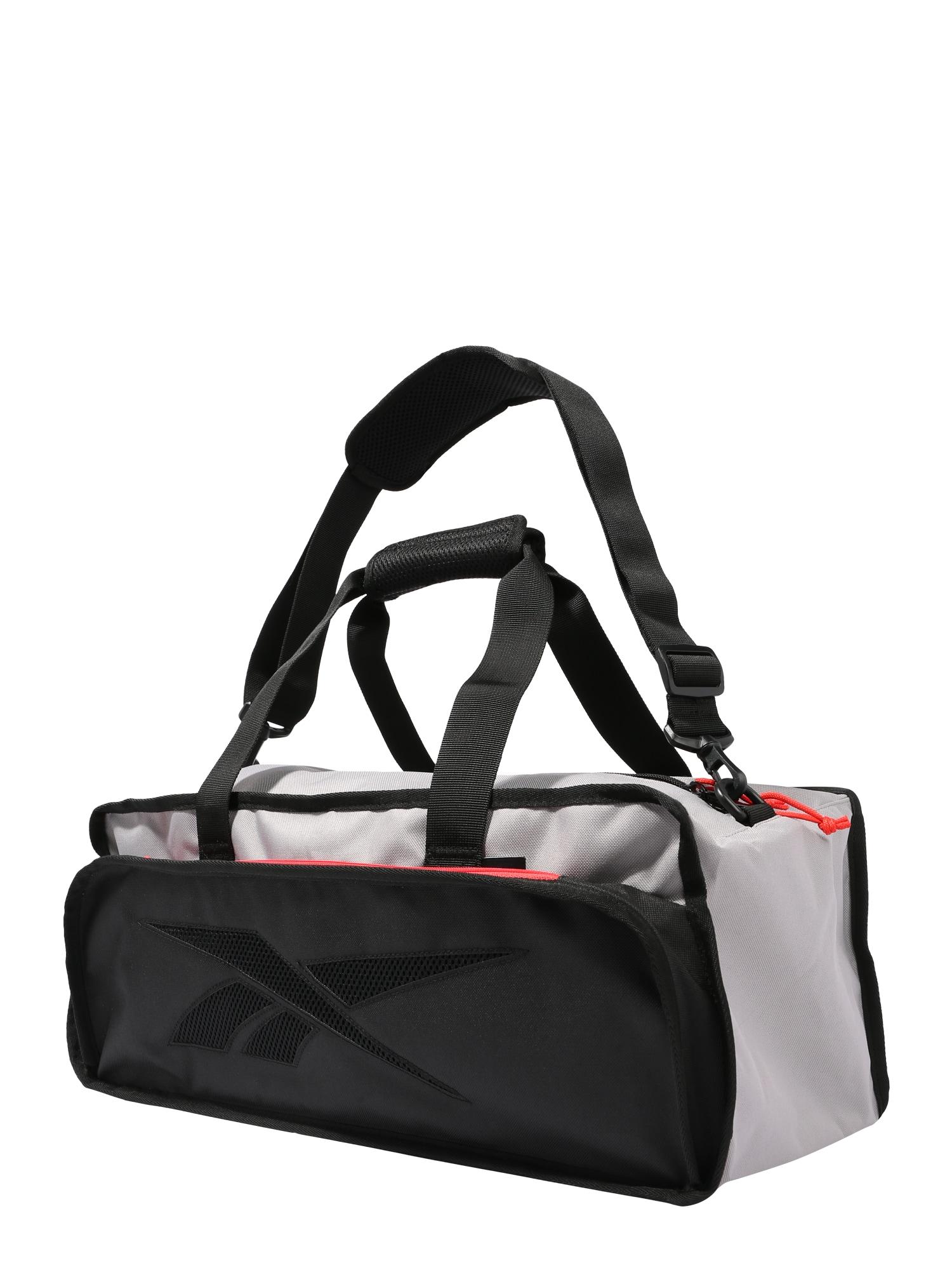 REEBOK Športová taška  čierna / svetlosivá / červené