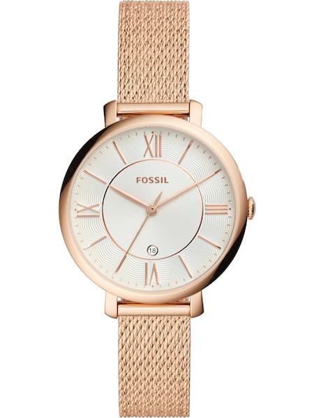Uhren für Frauen - FOSSIL Uhr 'Jacqueline' rosegold weiß  - Onlineshop ABOUT YOU