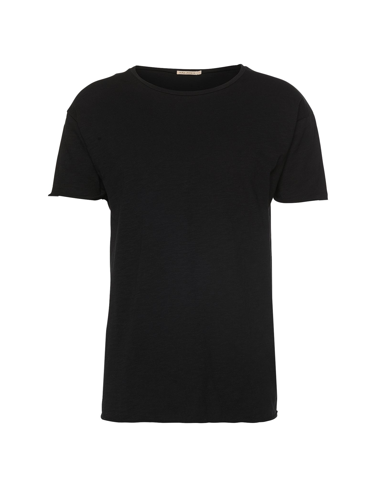 Nudie Jeans Co Marškinėliai 'Roger Slub' juoda