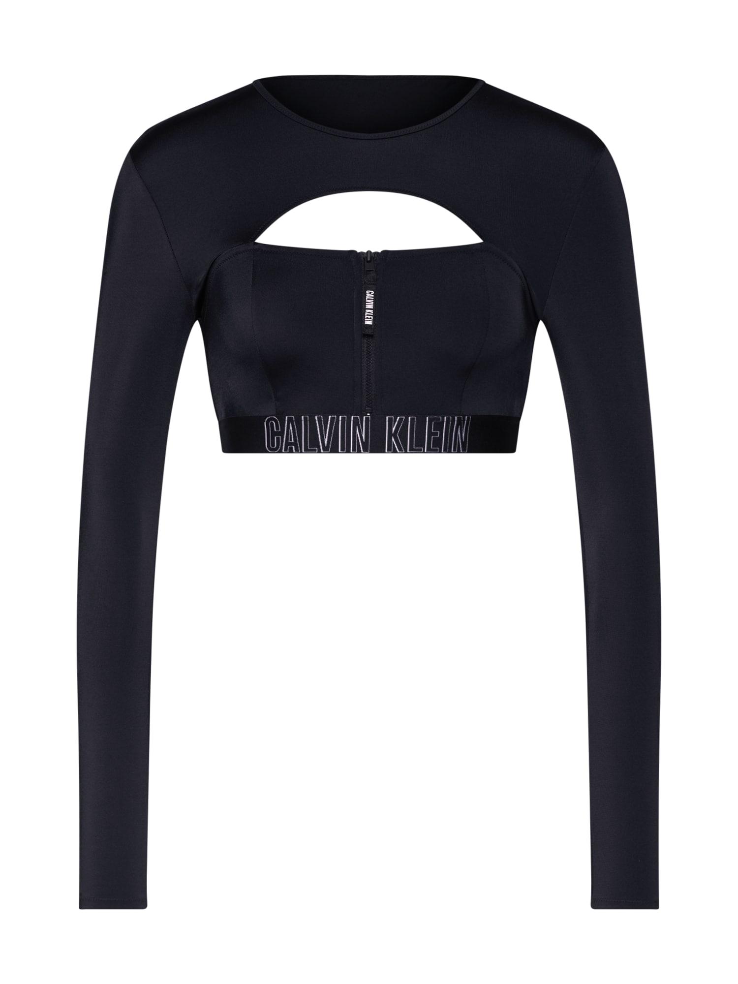 Horní díl plavek CROPPED RASH VEST černá Calvin Klein Swimwear