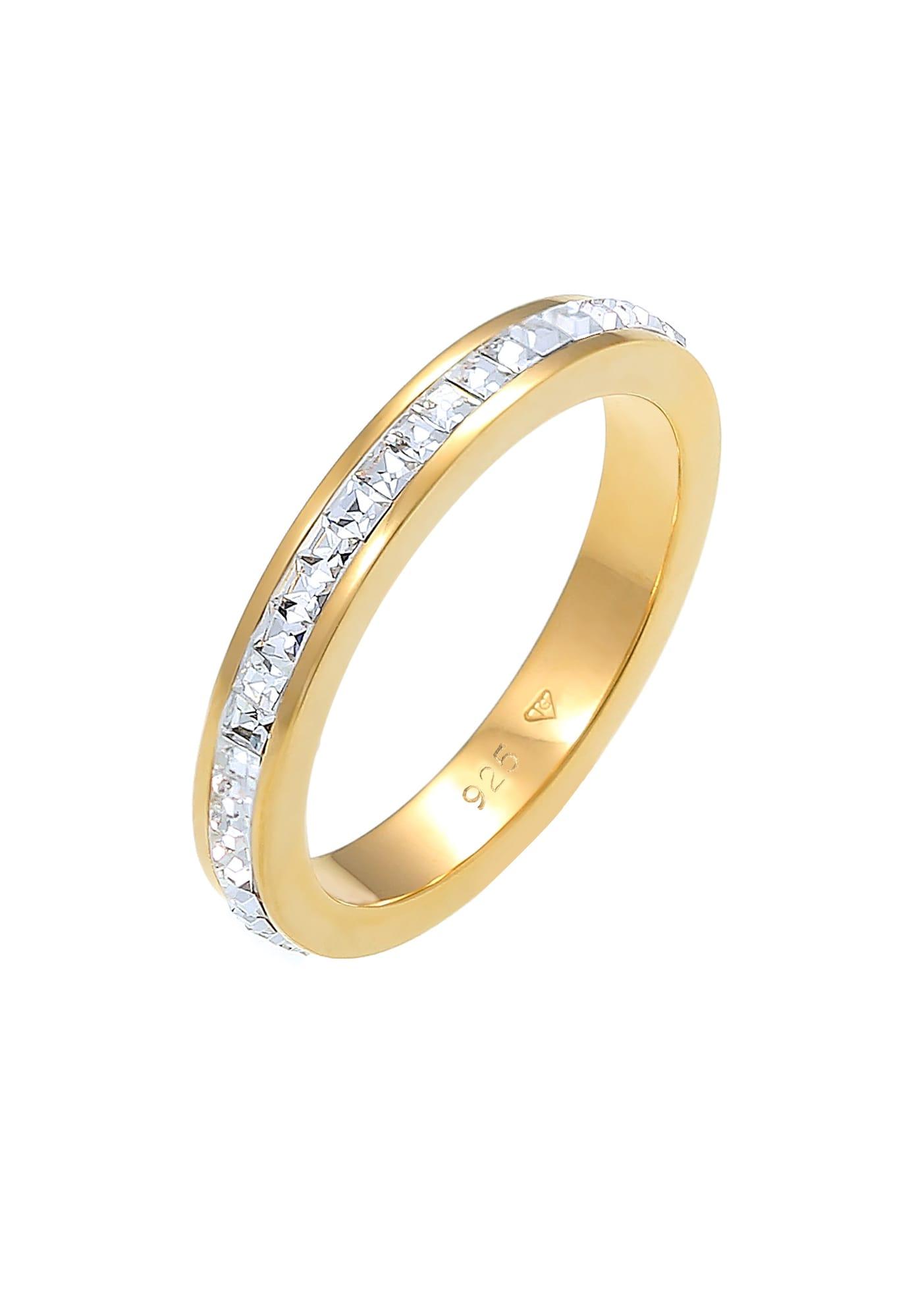 ELLI PREMIUM Žiedas skaidri spalva / auksas