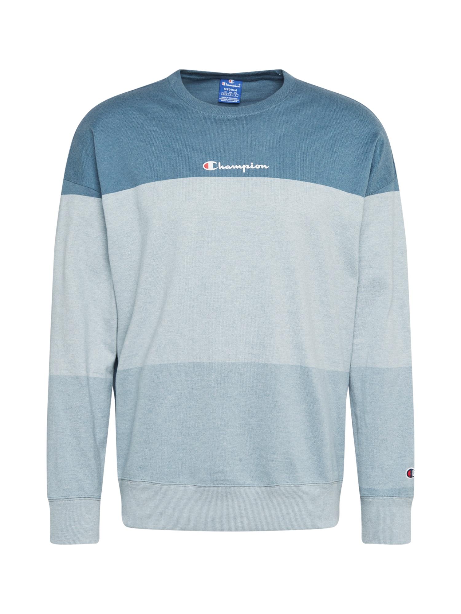 Champion Authentic Athletic Apparel Megztinis be užsegimo šviesiai mėlyna / mėlyna dūmų spalva / mėlyna