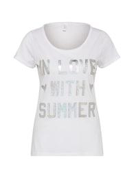 Q/S Designed By Damen T-Shirt KURZARM silber,weiß | 04056523689297