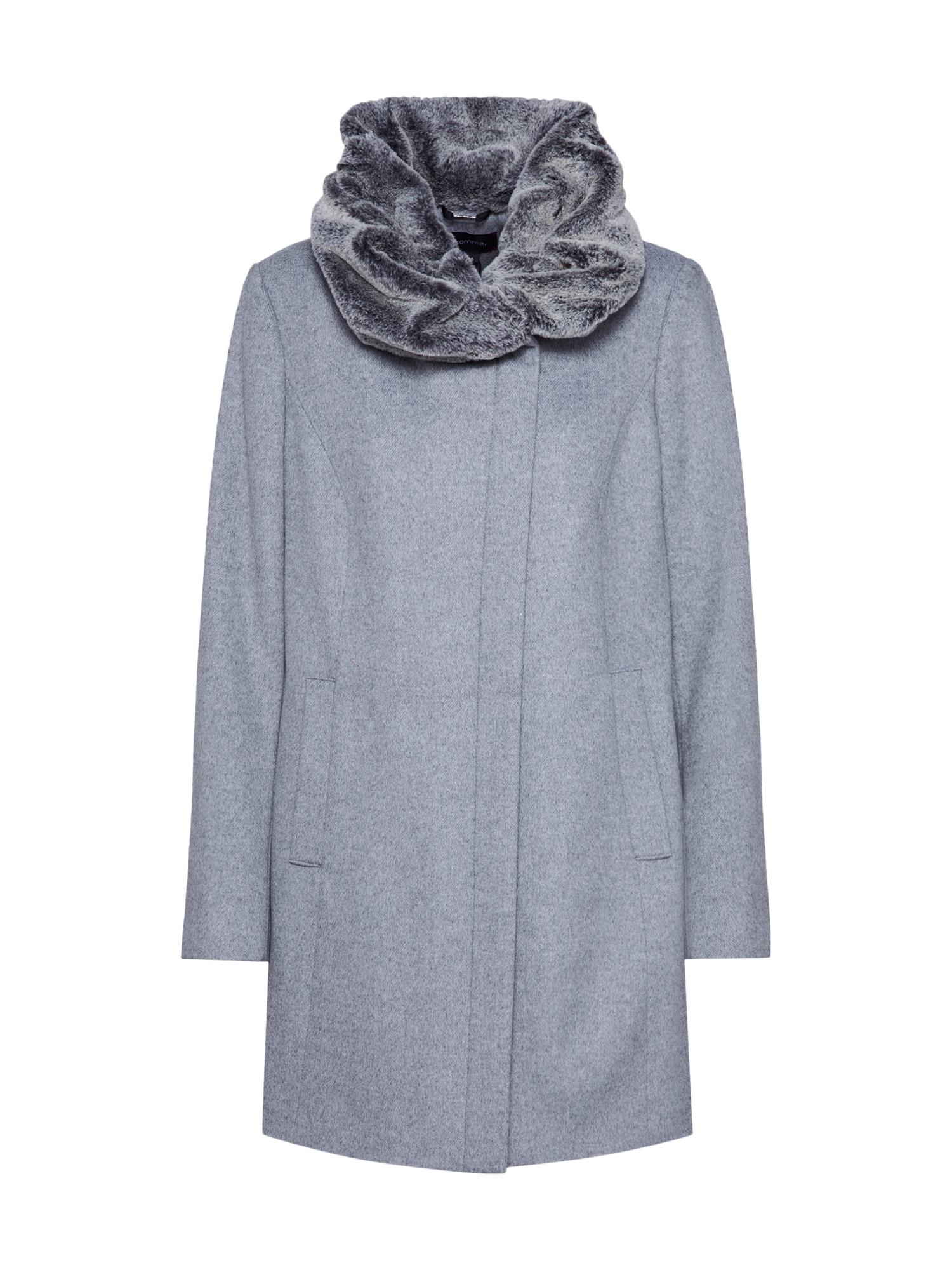 COMMA Rudeninis-žieminis paltas sidabro pilka / margai pilka
