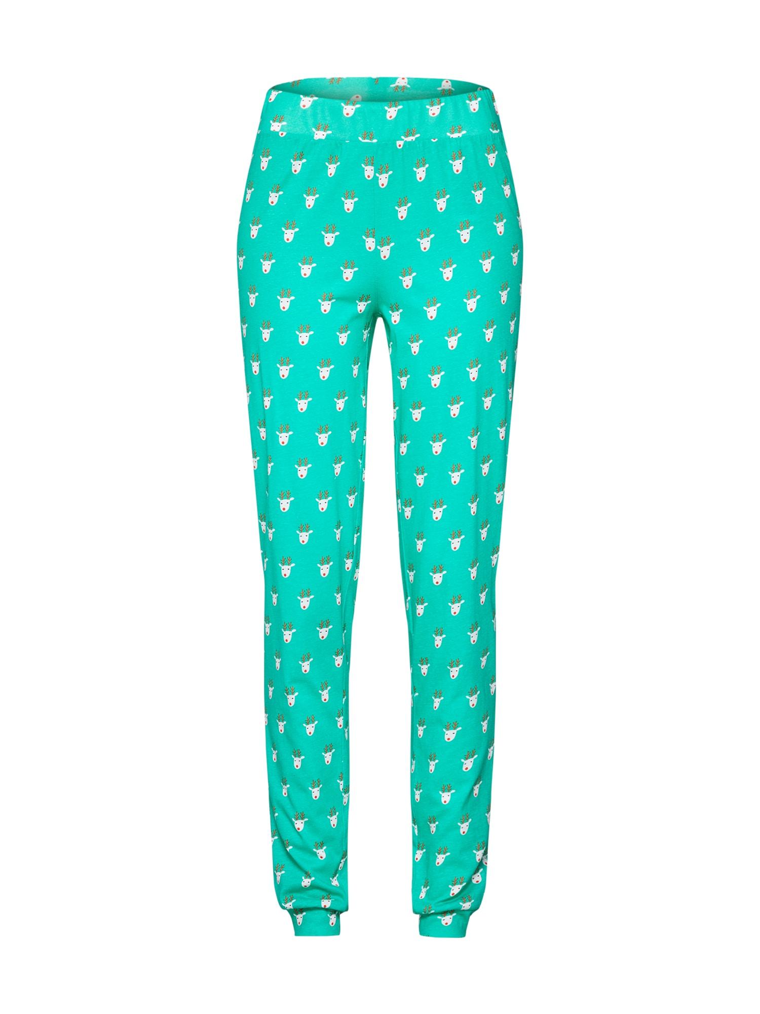 Pyžamové kalhoty Alpine tyrkysová mix barev Noisy May