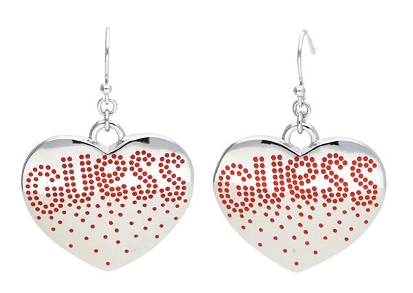 Ohrringe für Frauen - GUESS Ohrhänger 'UBE81113' rot silber  - Onlineshop ABOUT YOU