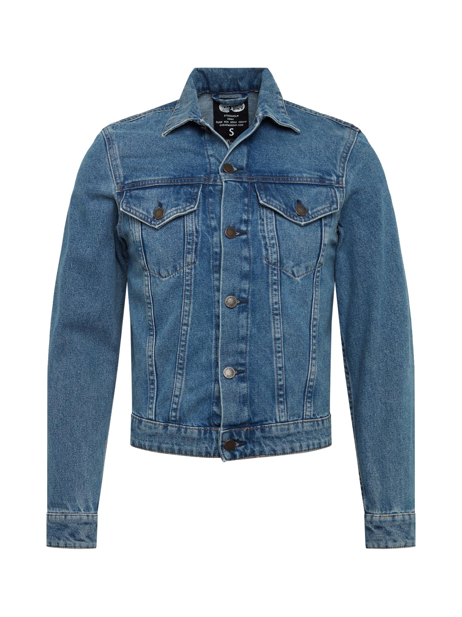 Přechodná bunda modrá džínovina CHEAP MONDAY
