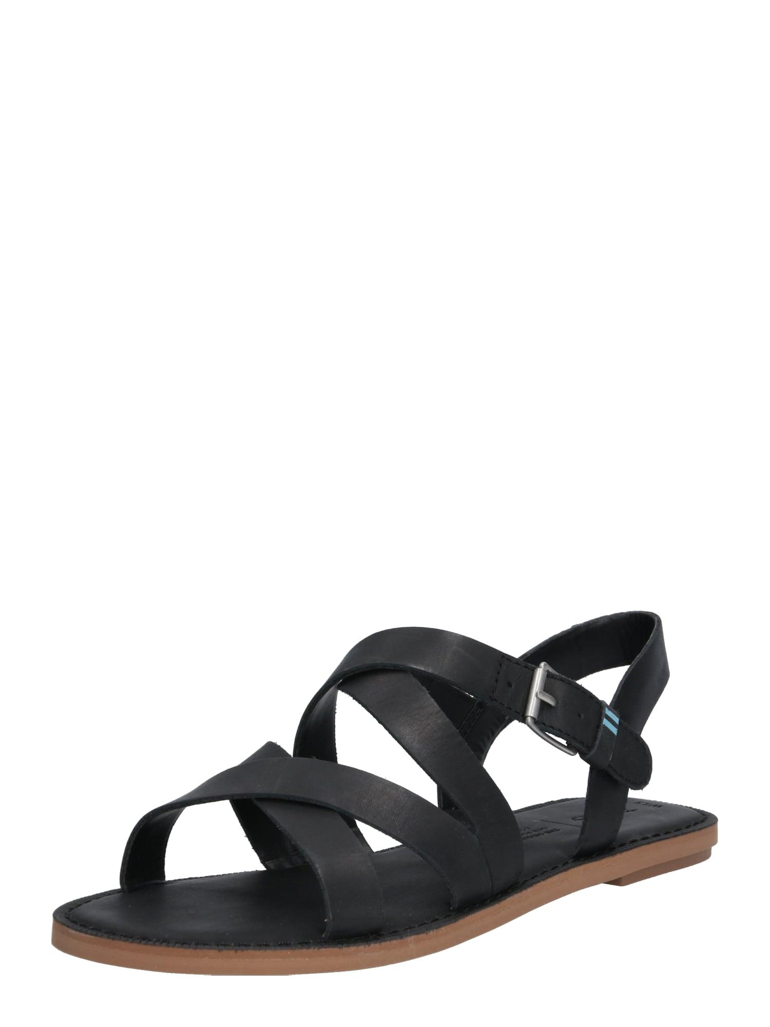 Páskové sandály SICILY černá TOMS
