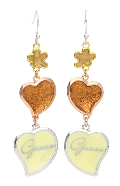 Ohrringe für Frauen - GUESS Ohrhänger im Herzdesign UBE21205 gold silber  - Onlineshop ABOUT YOU