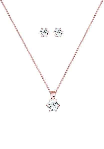 Schmucksets für Frauen - ELLI Schmuckset 'Kristall' rosegold transparent  - Onlineshop ABOUT YOU