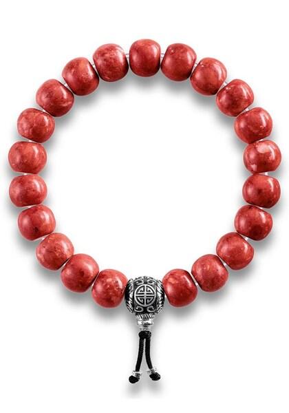 Armbaender für Frauen - Thomas Sabo Armband 'Power Bracelet Ethno Rot, A1705 062 1' rot schwarz silber  - Onlineshop ABOUT YOU