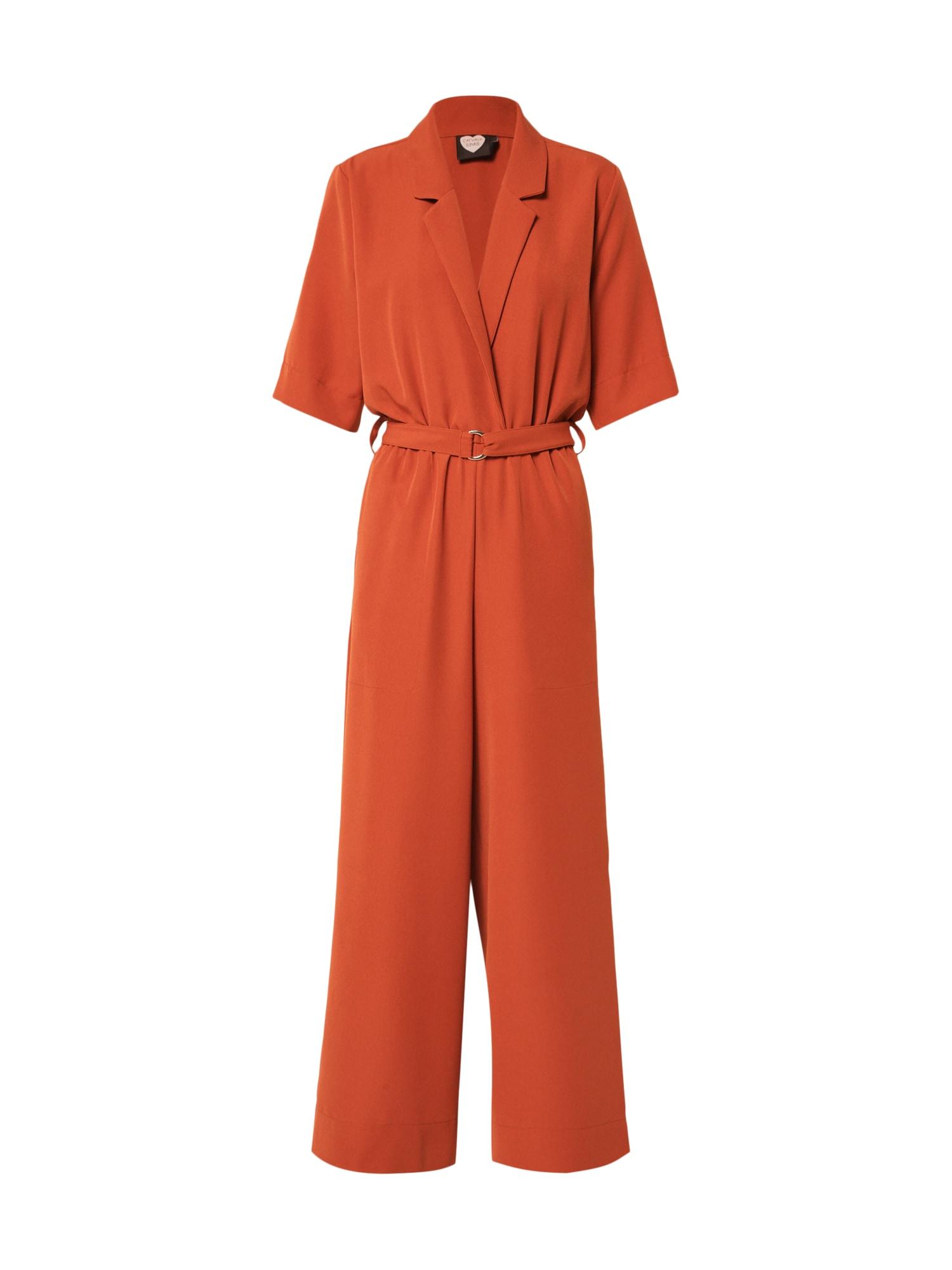 CATWALK JUNKIE Kombinezono tipo kostiumas 'JANE' rūdžių raudona