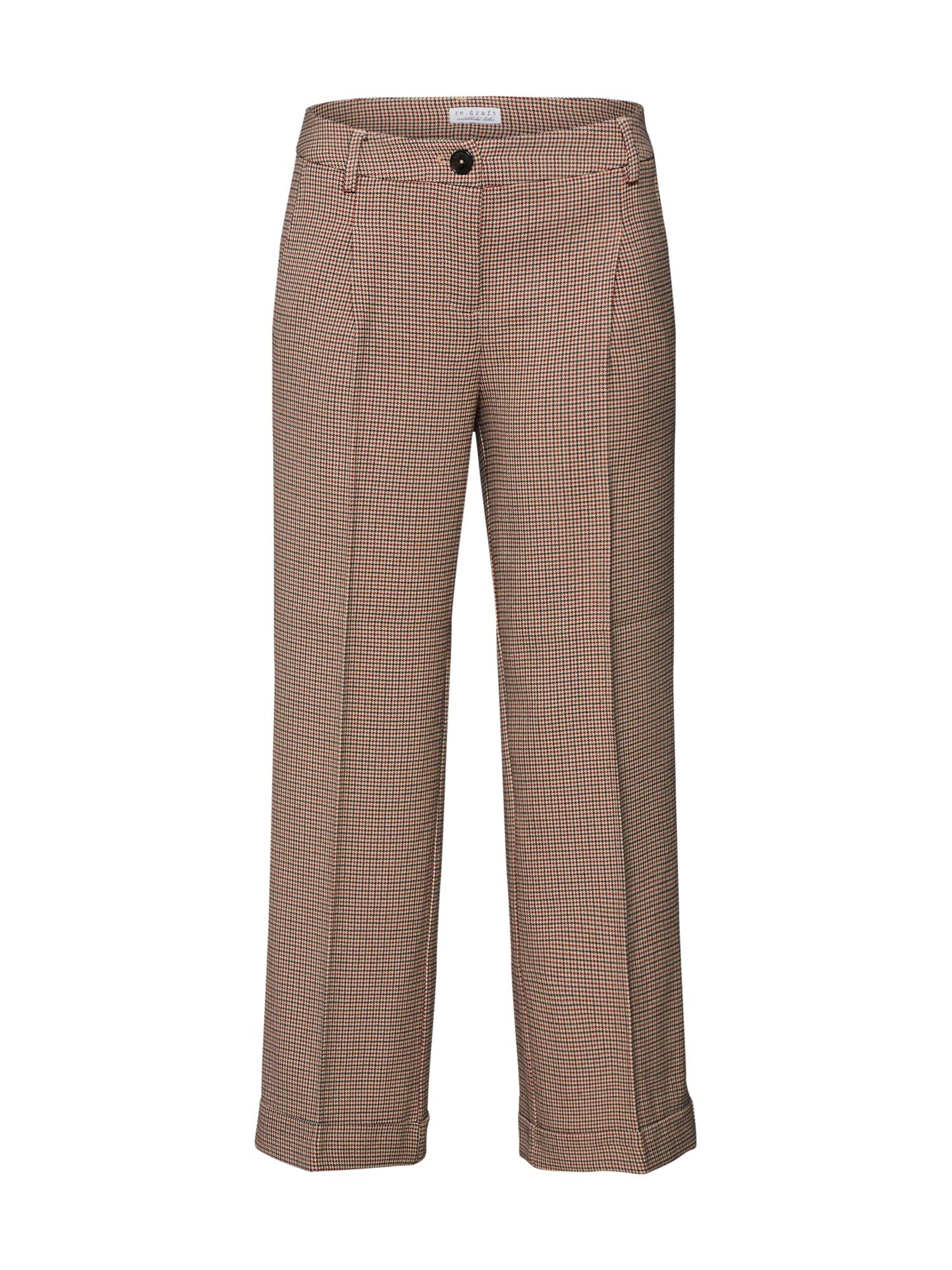 Kalhoty s puky béžová Re.draft