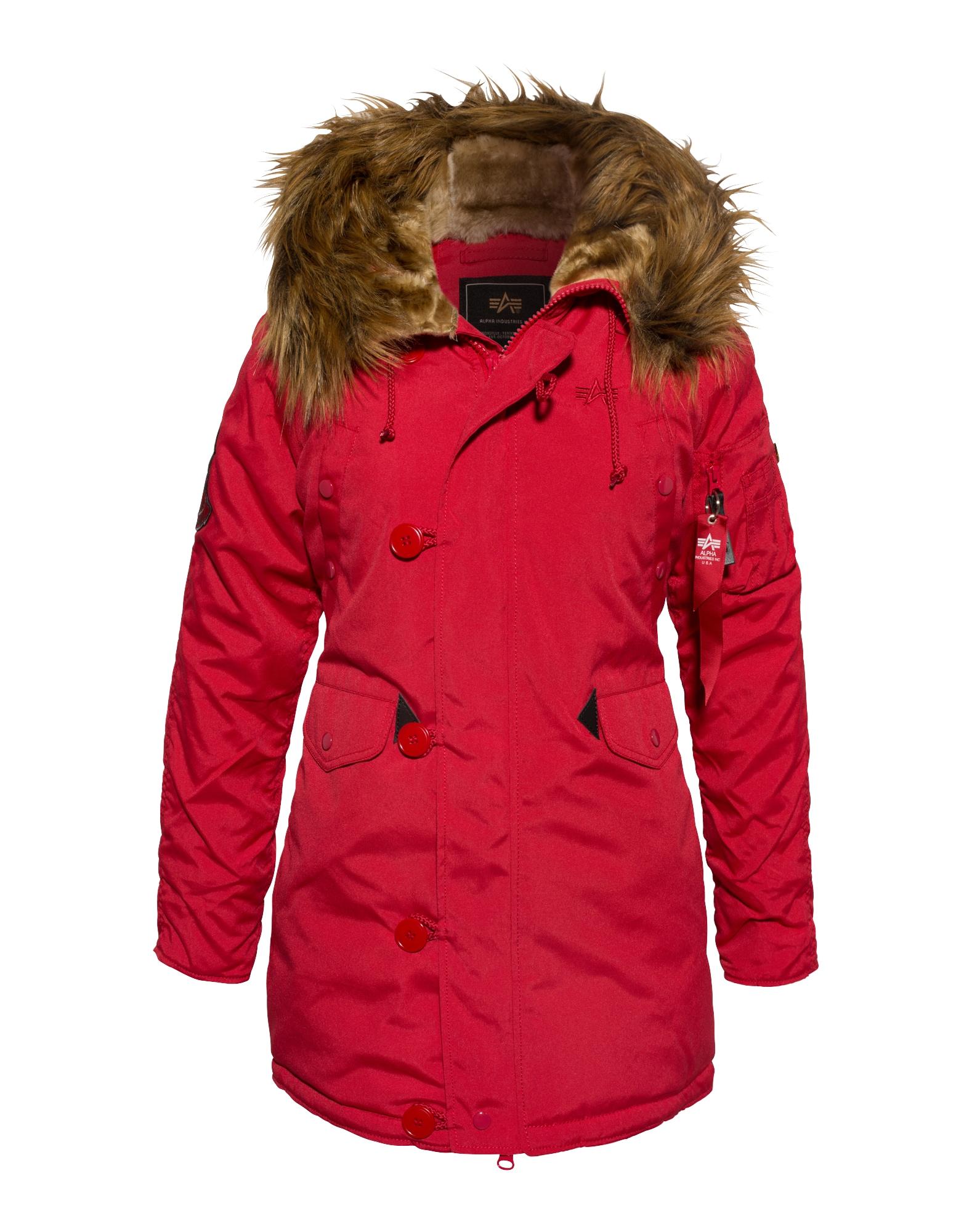ALPHA INDUSTRIES Parka de iarnă 'Explorer'  roșu
