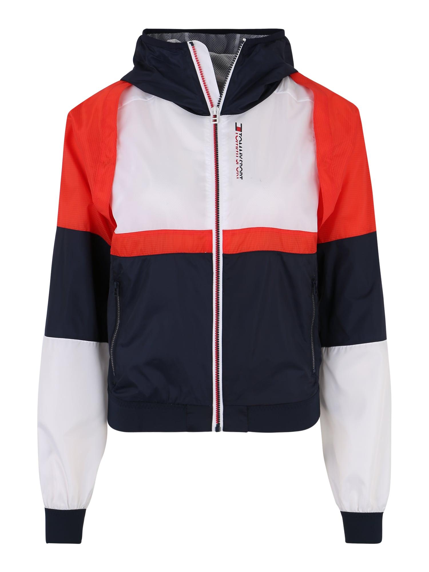 Sportovní bunda Windbreaker 2-in-1 modrá červená bílá Tommy Sport