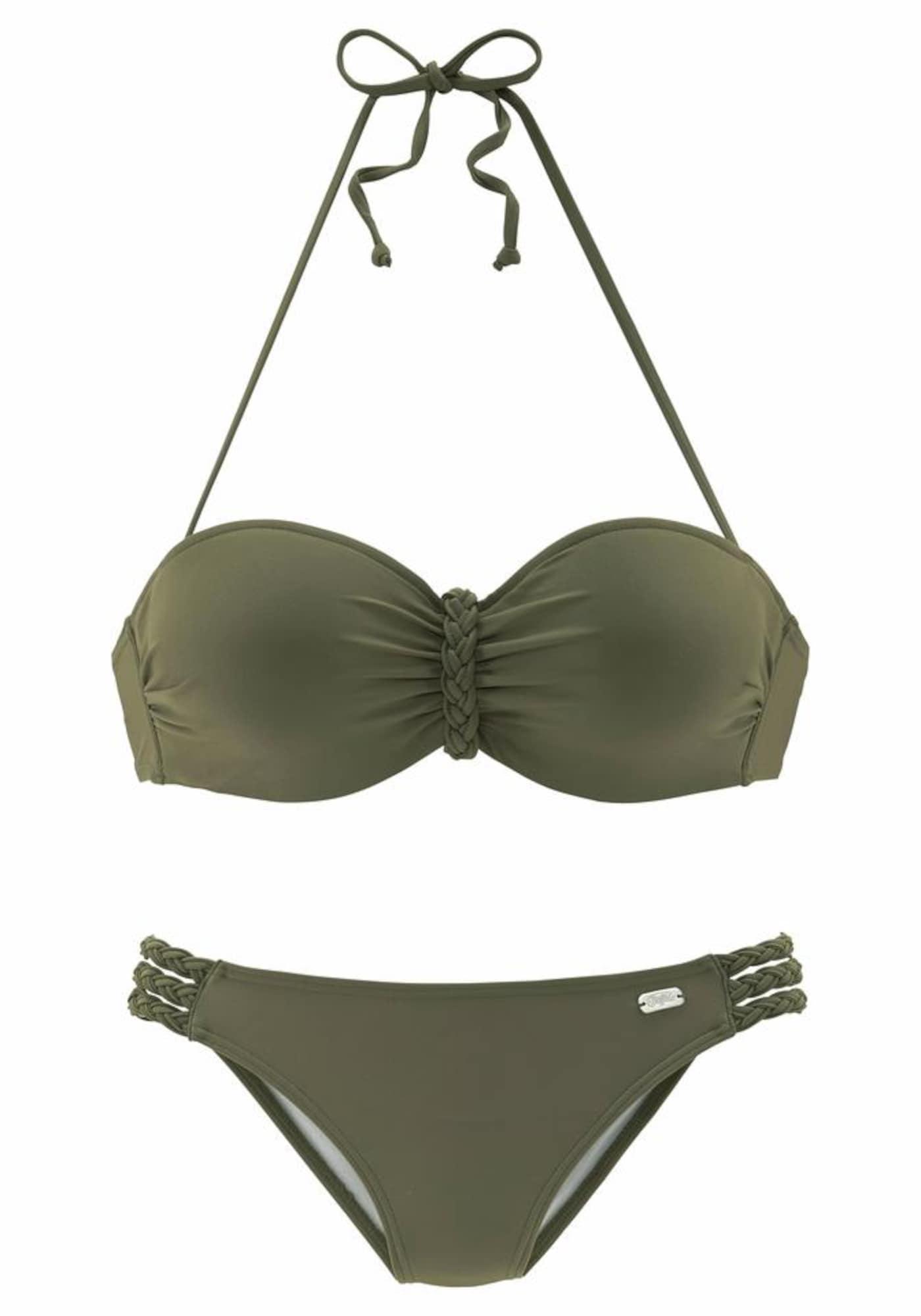 BUFFALO Bikinis rusvai žalia