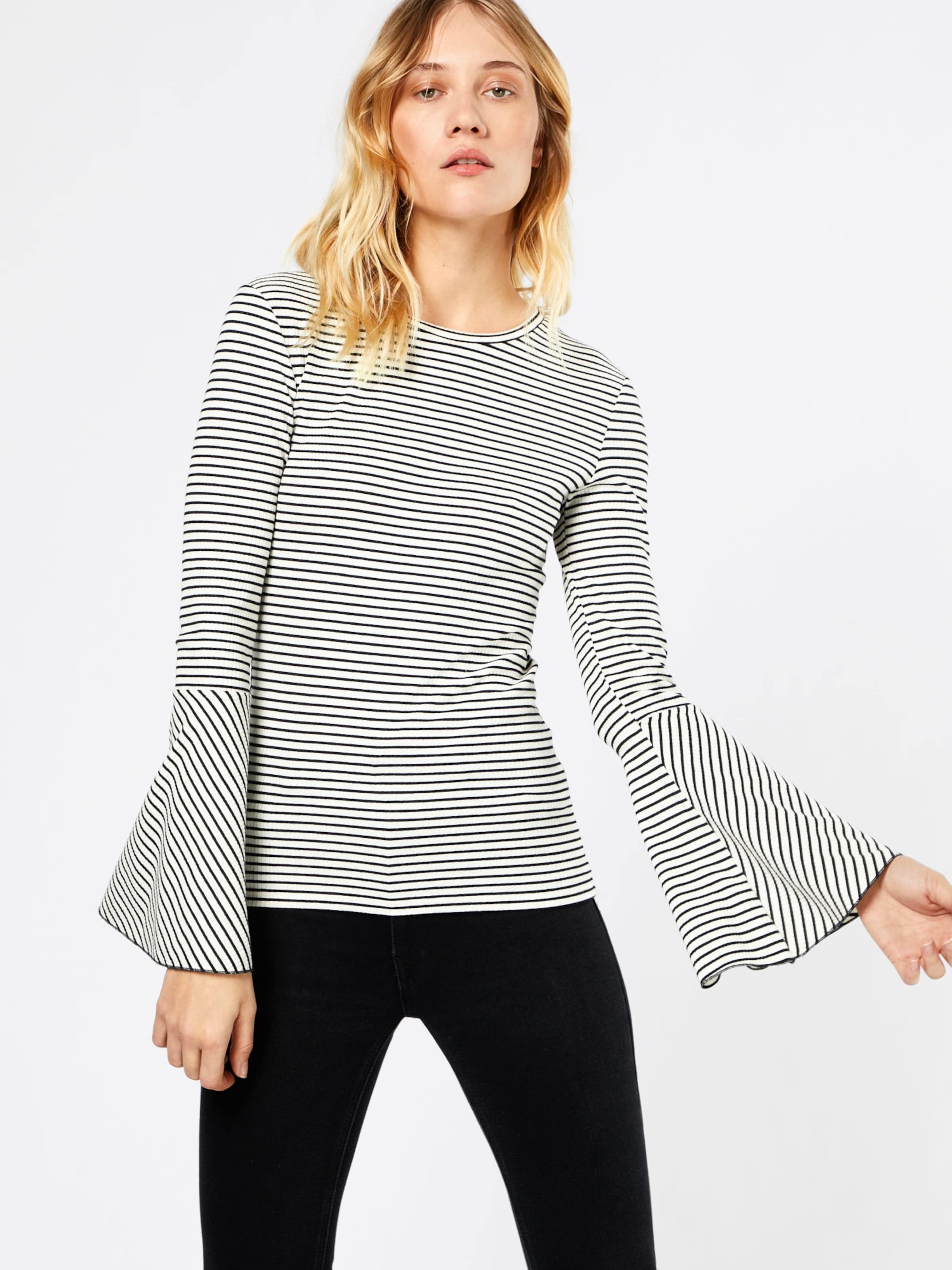EDC BY ESPRIT Damen Shirt mit Streifen schwarz,weiß | 04059601983041
