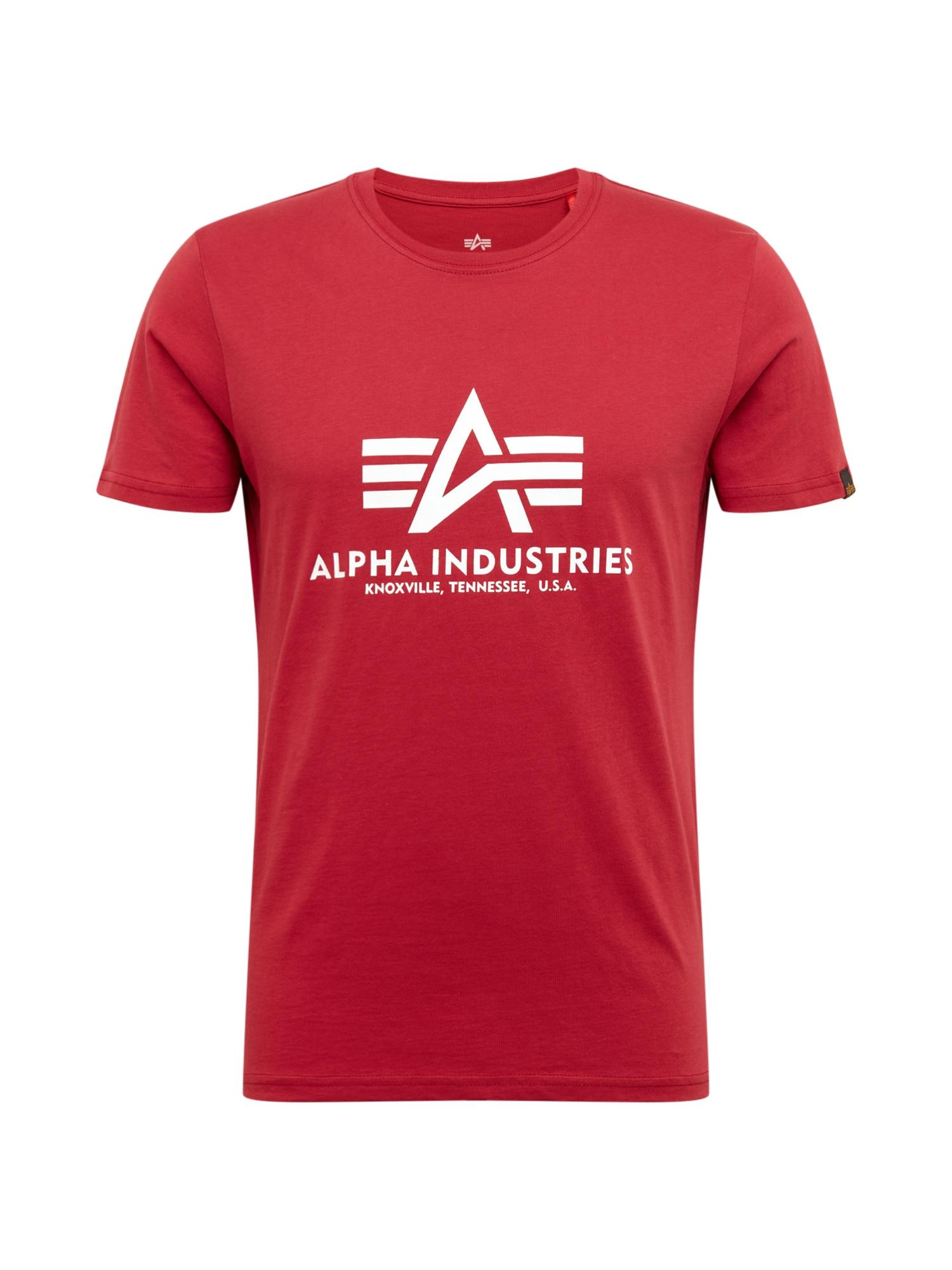 ALPHA INDUSTRIES Marškinėliai raudona / balta