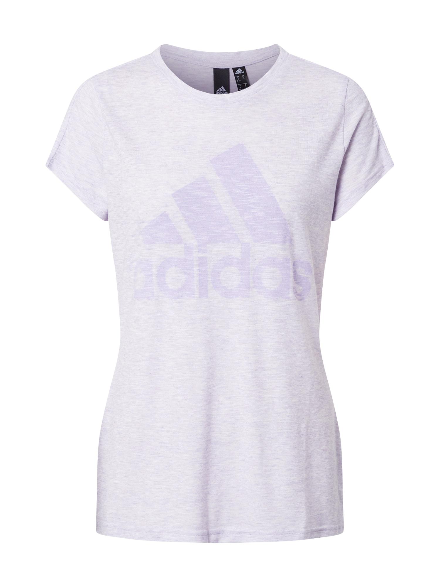 ADIDAS PERFORMANCE Funkčné tričko 'Winners'  fialová melírovaná