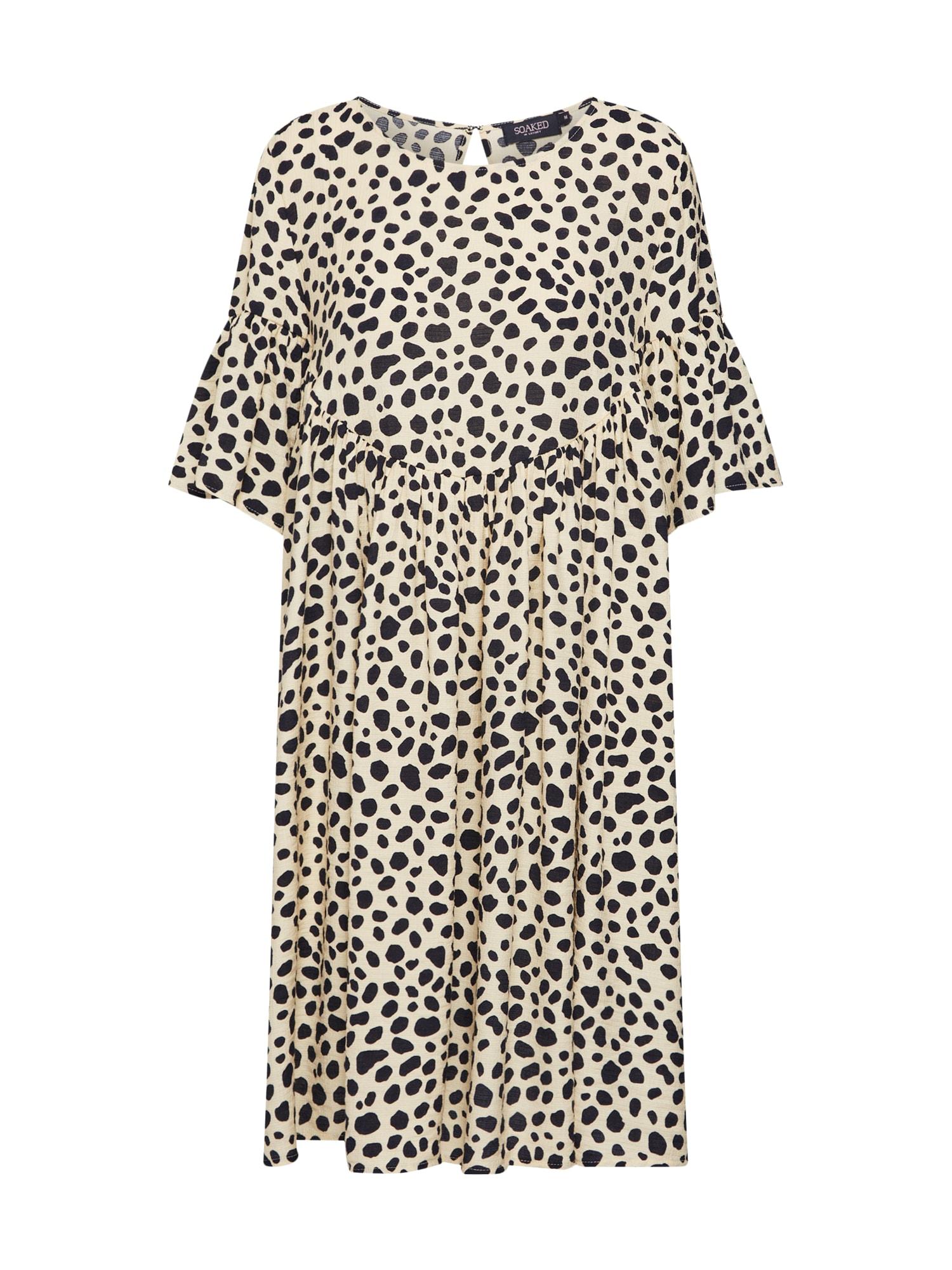 Šaty Mika Dress béžová černá SOAKED IN LUXURY