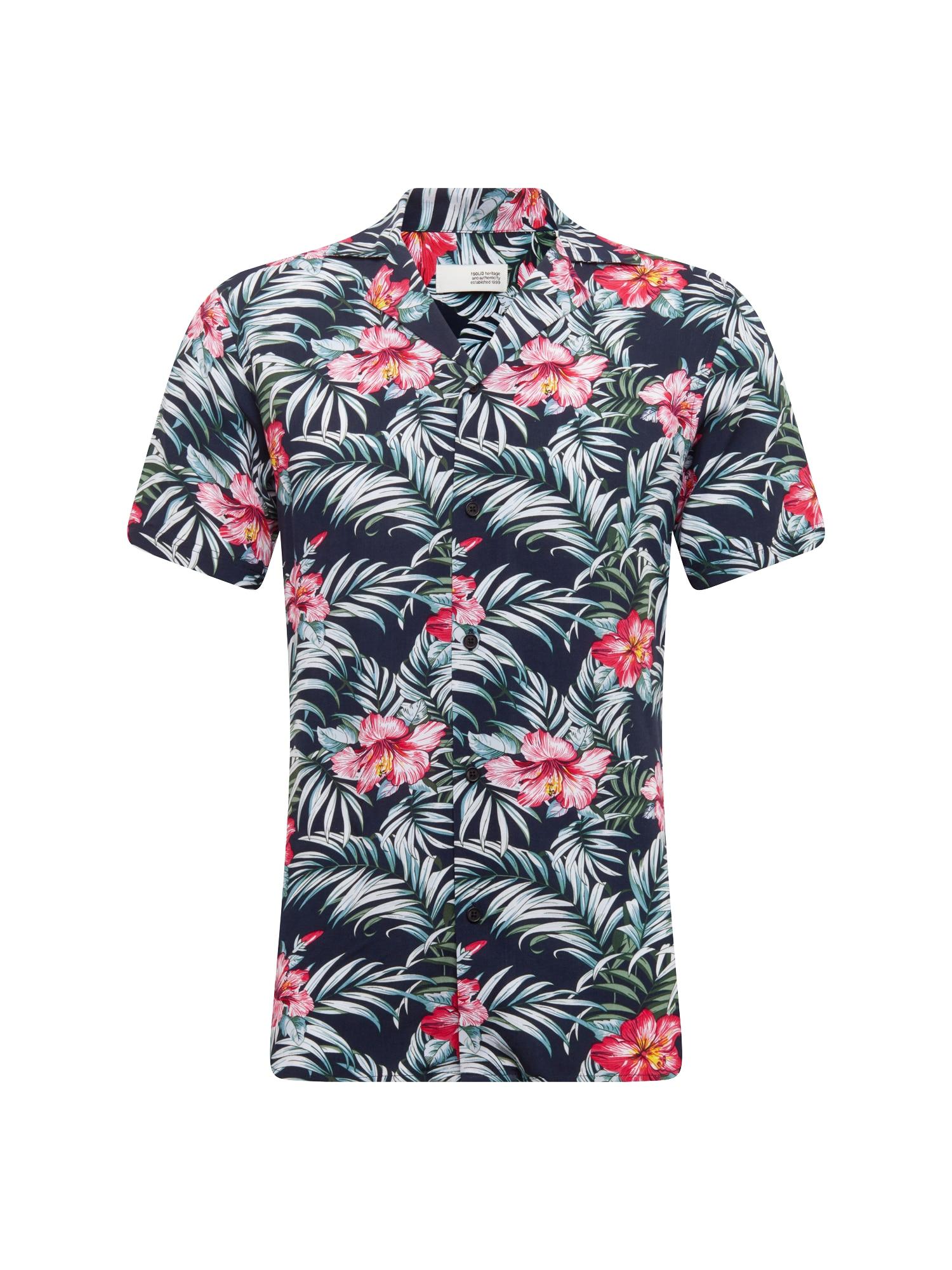 Košile Shirt - Brando Tropic SS zelená černá bílá !Solid