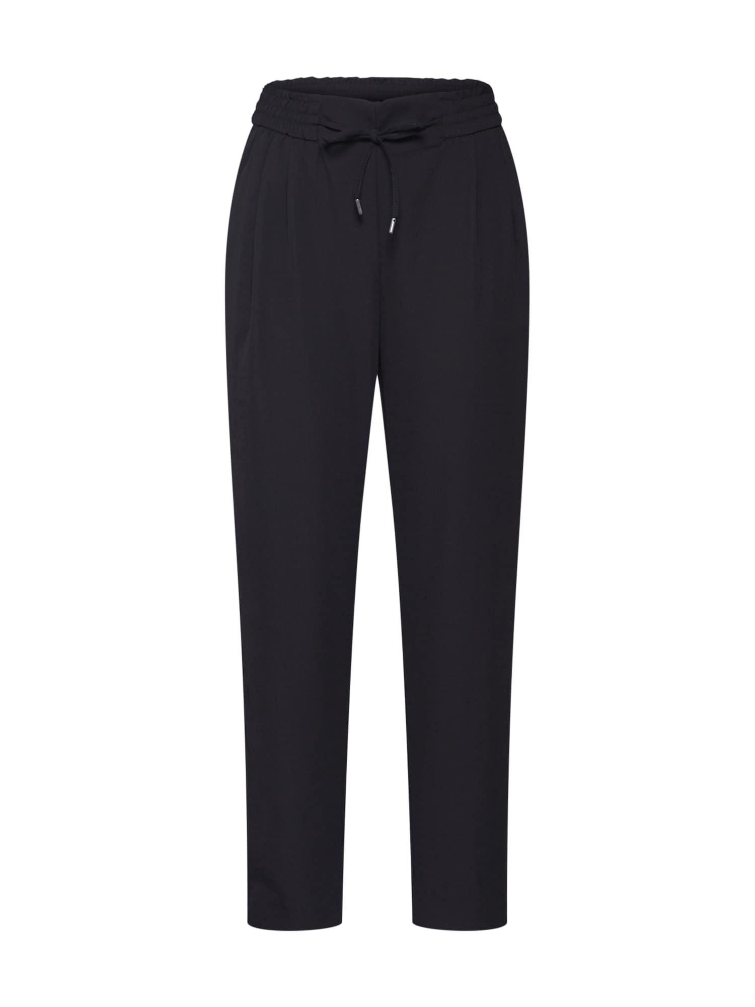 VILA Plisované nohavice 'IRIS'  čierna